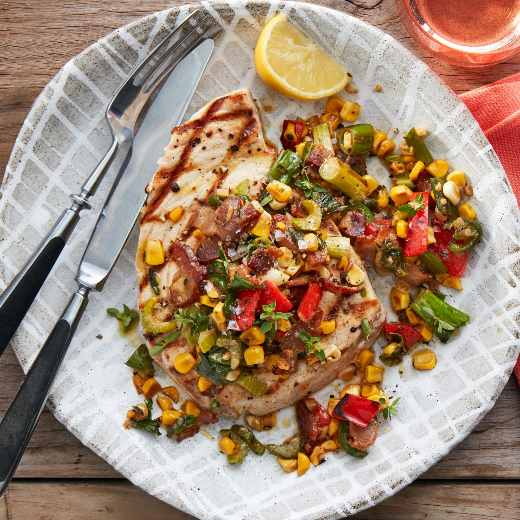 Grilled Fish with Maque Choux