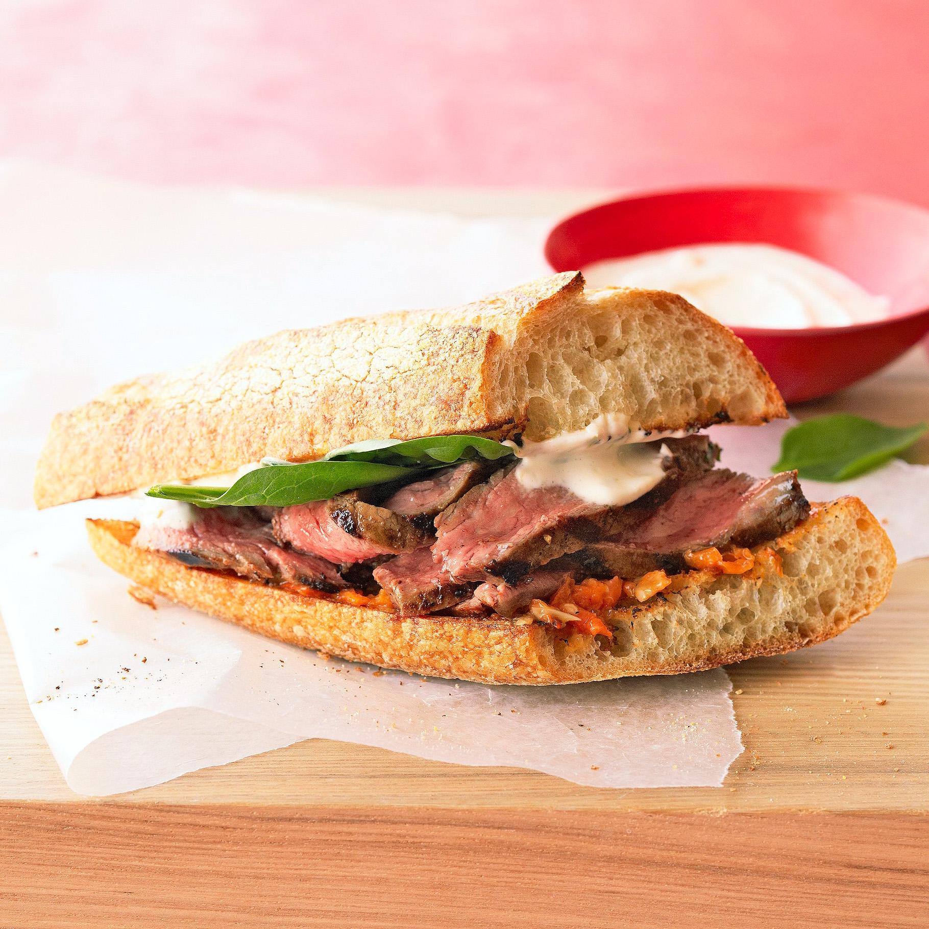 Grilled Habanero Steak Sandwiches