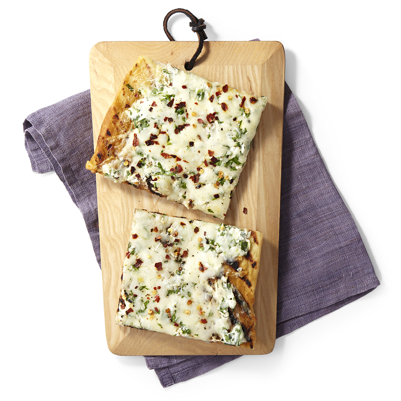 grilled white pizza