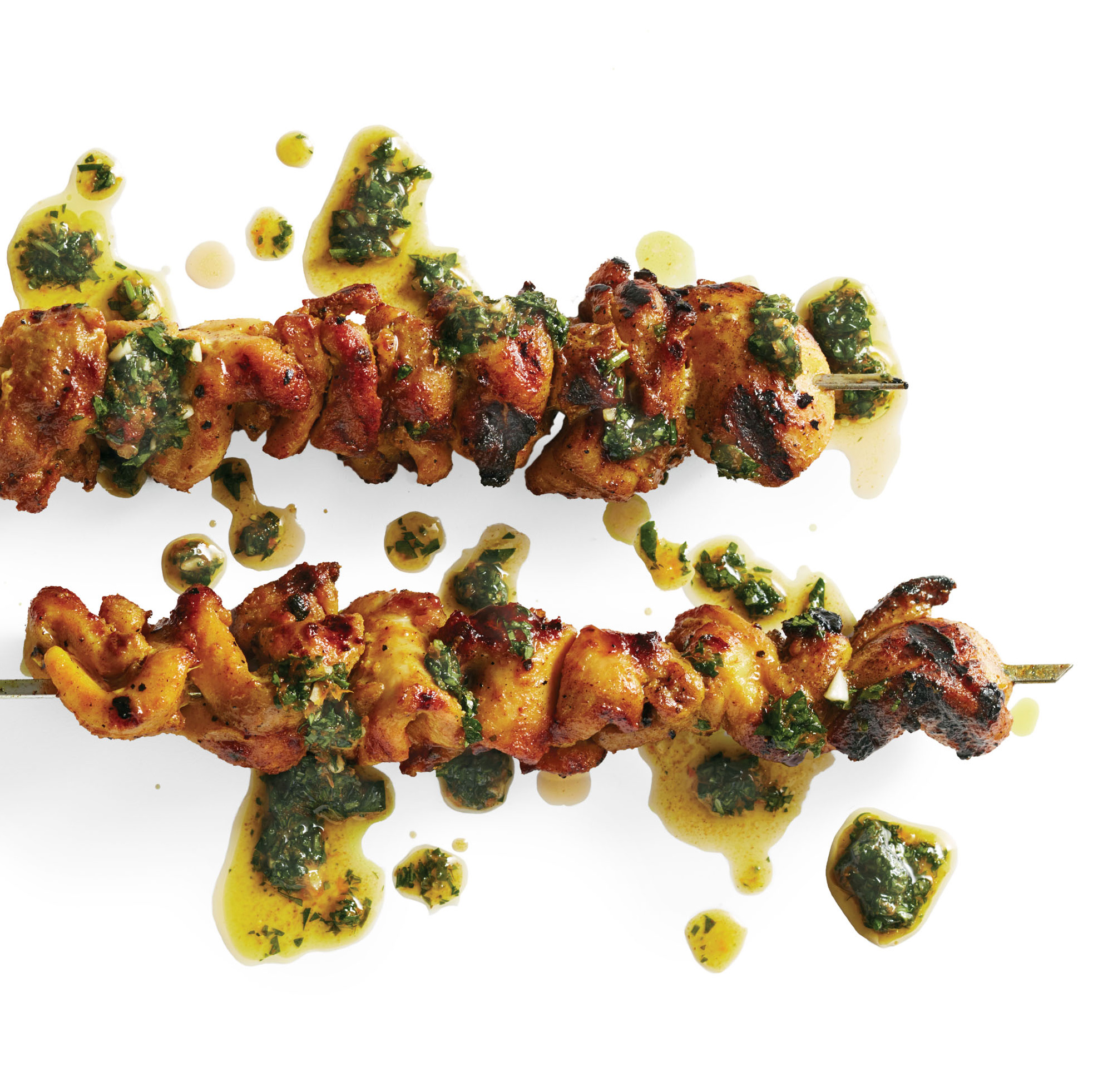 moroccan grilled chicken skewers