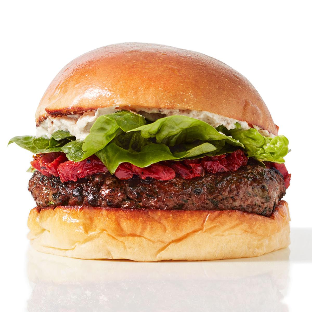 Spring Onion & Herb Lamb Burgers