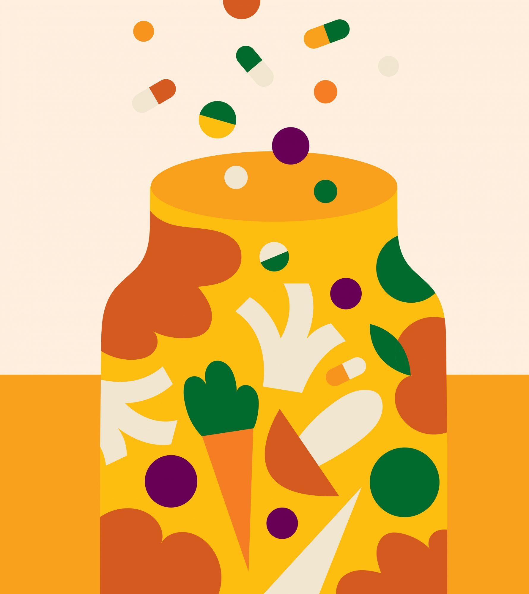 vitamin and supplement jar