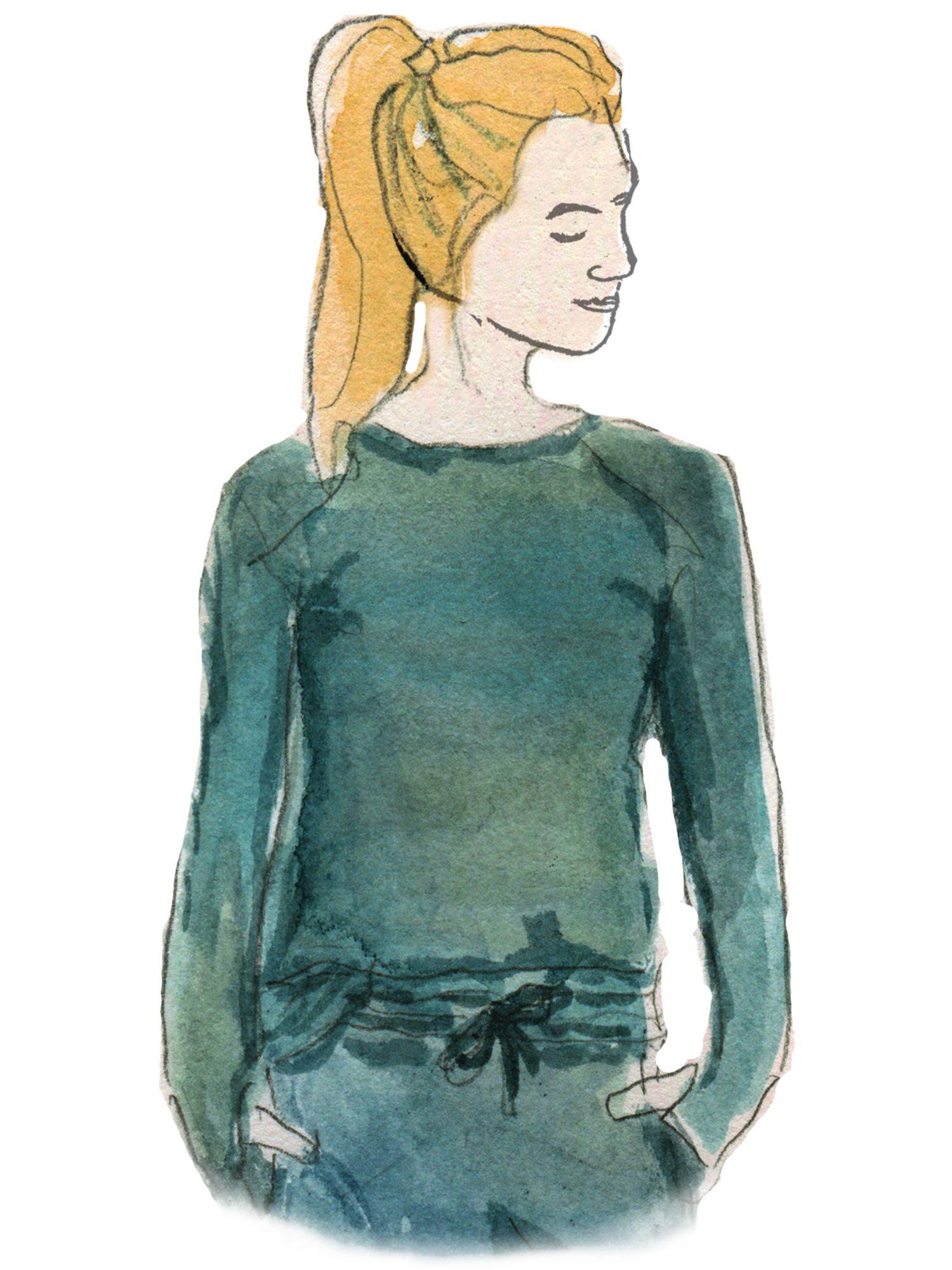 illustration of hello mello weekender sweats