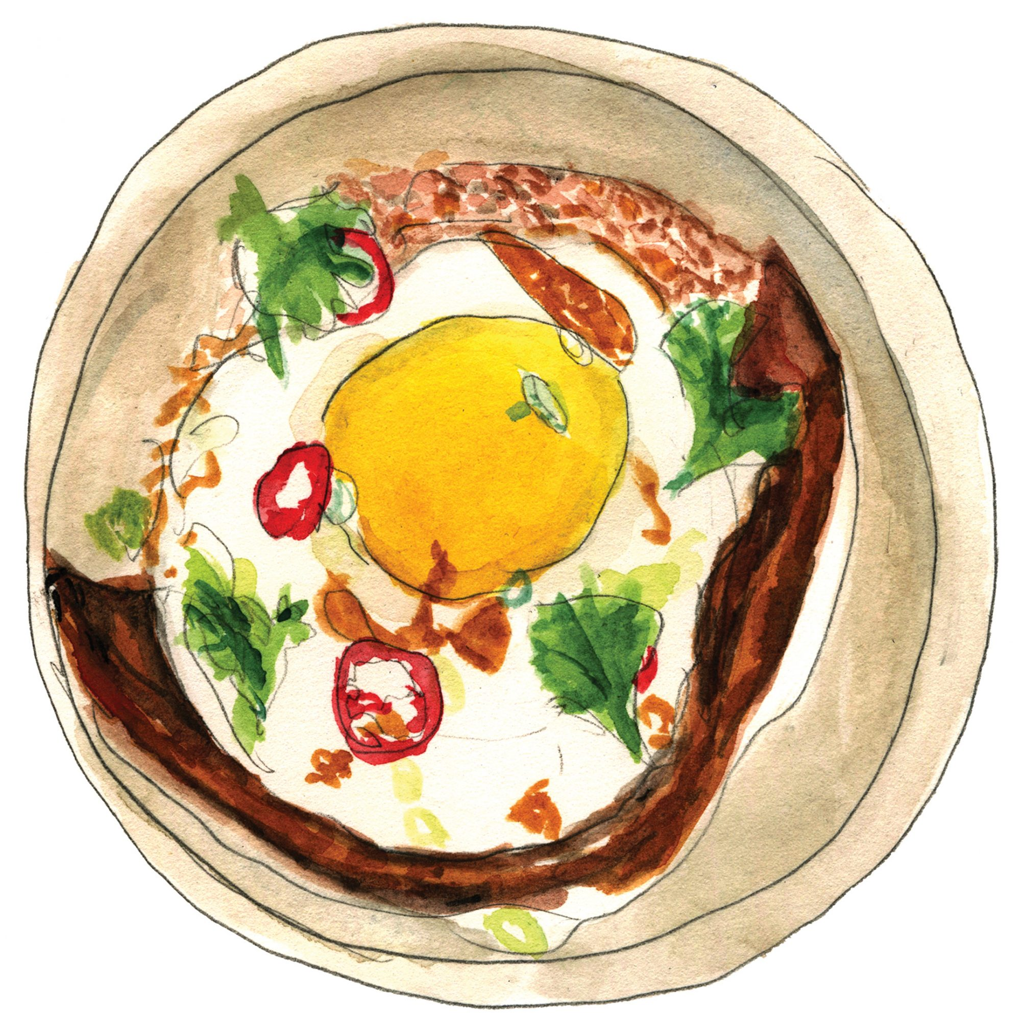 illustration of plated food from wayan