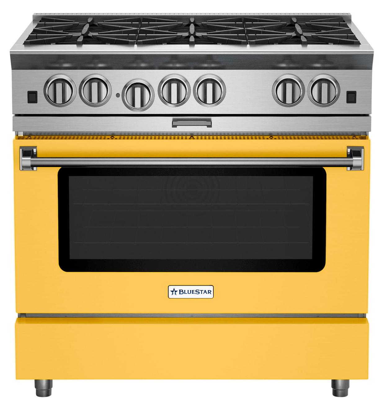 BlueStar Cooking yellow range