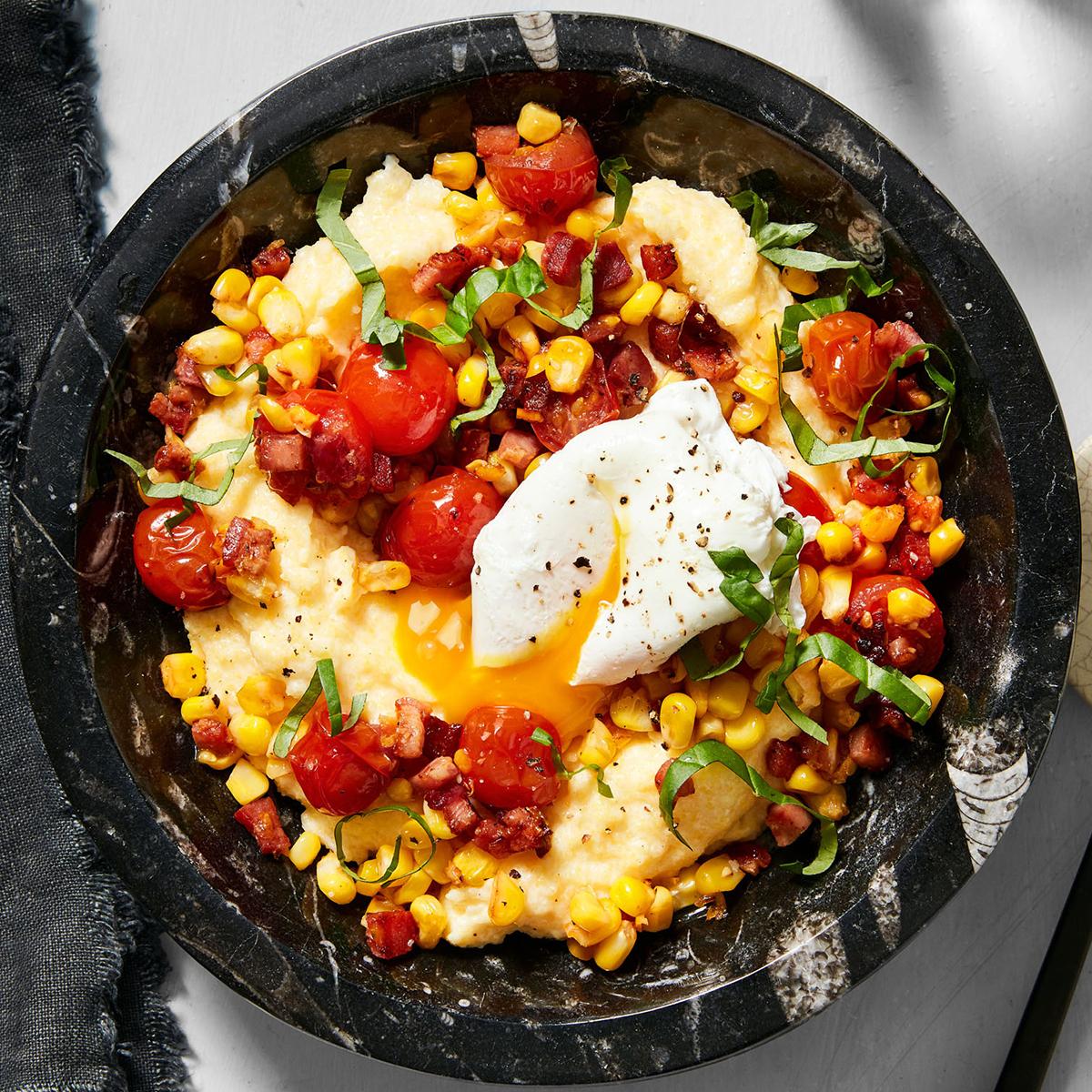 breakfast polenta bowl