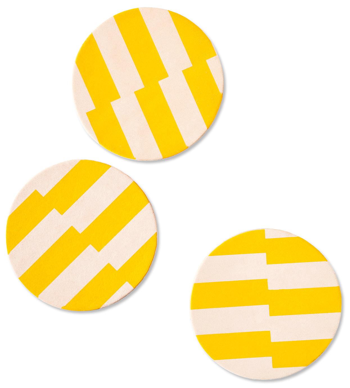 Celina Mancurti Leather Coasters
