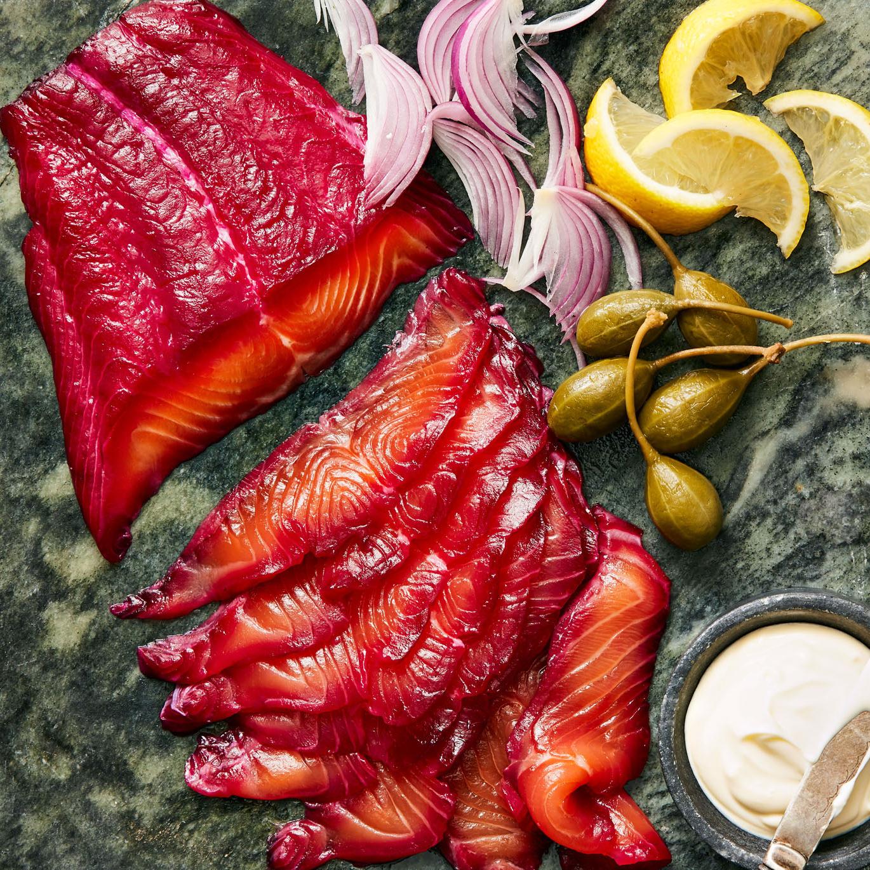Beet-Cured Salmon