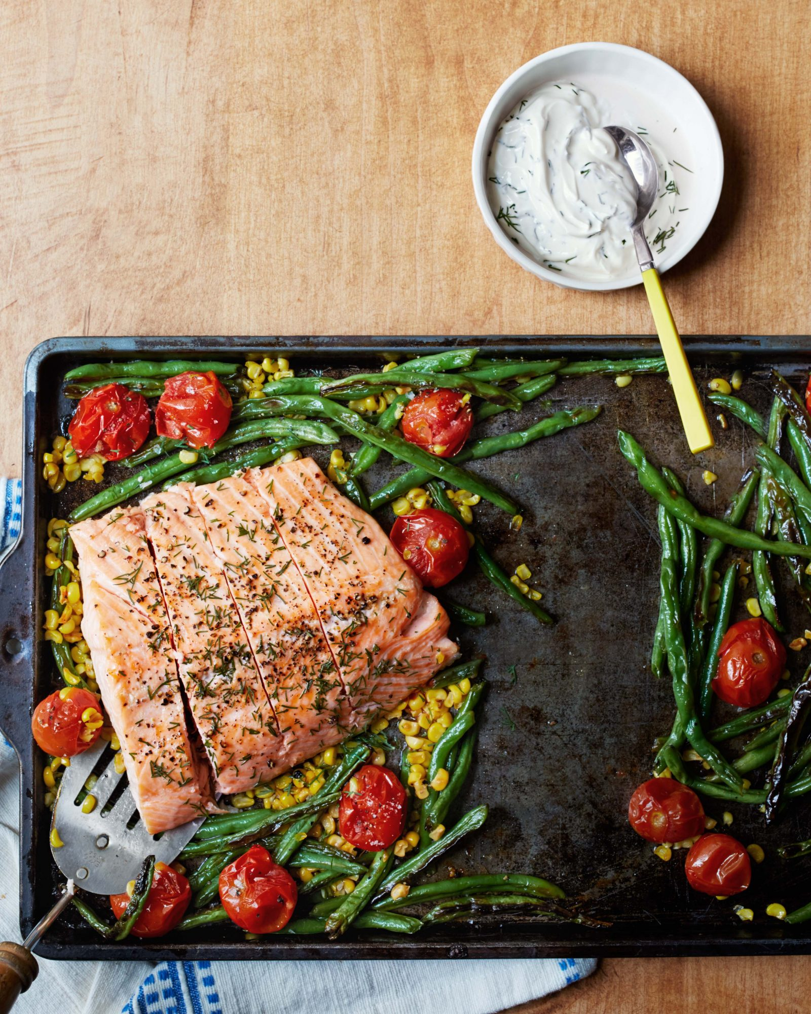 Roasted Salmon & Succotash