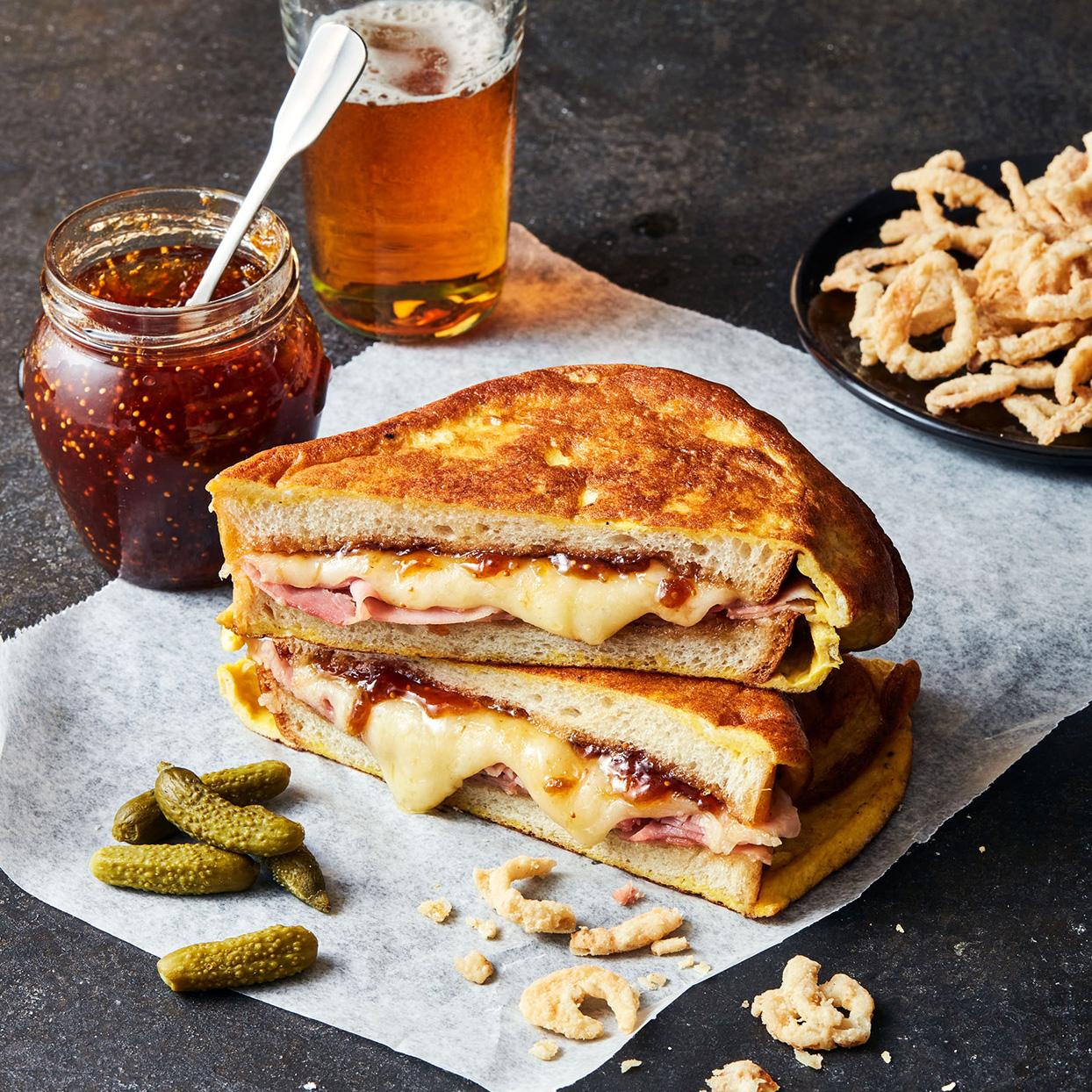 Fig & Fontina Monte Cristo sandwich