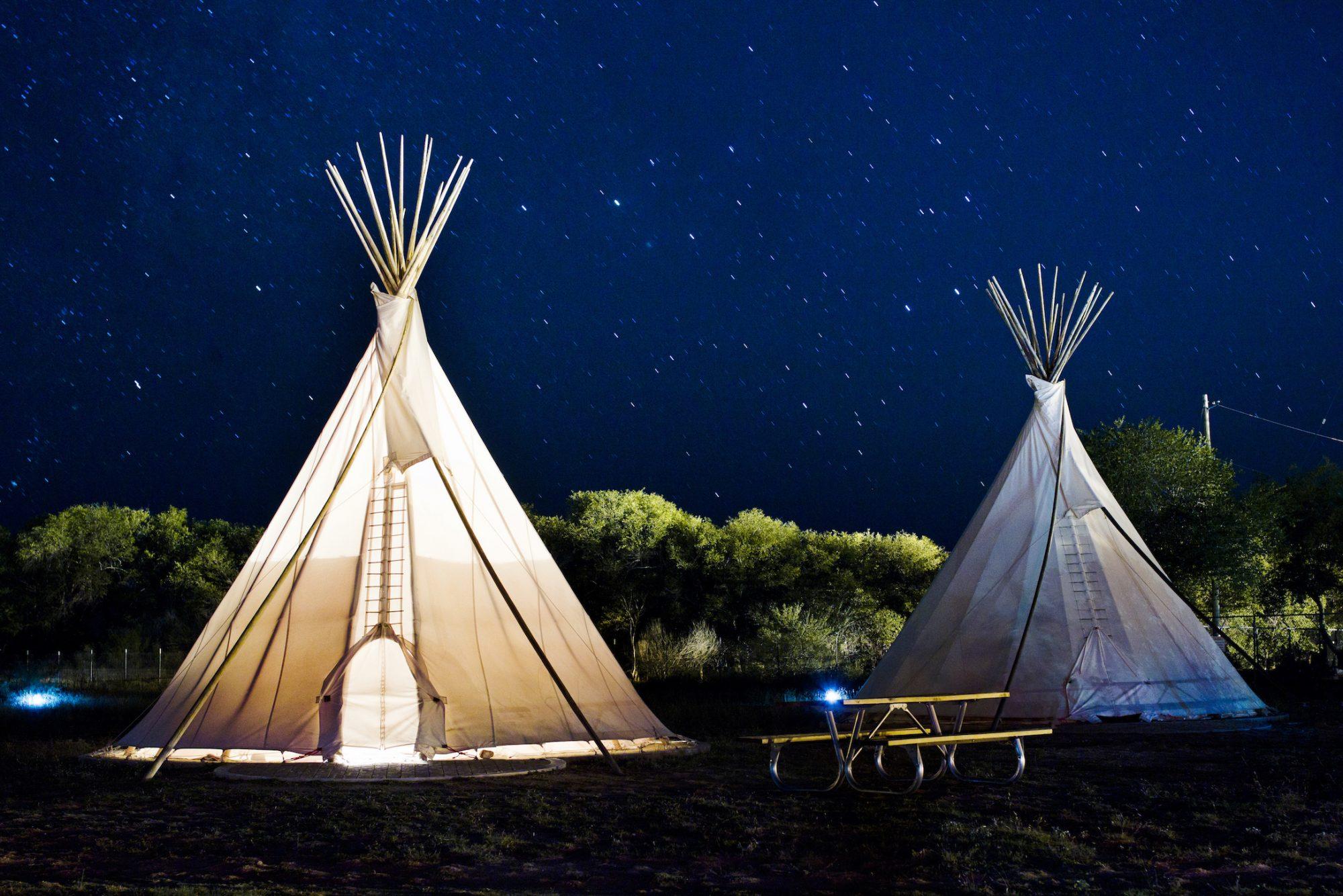 El Cosmico - Teepee at Night - Nick Simonite