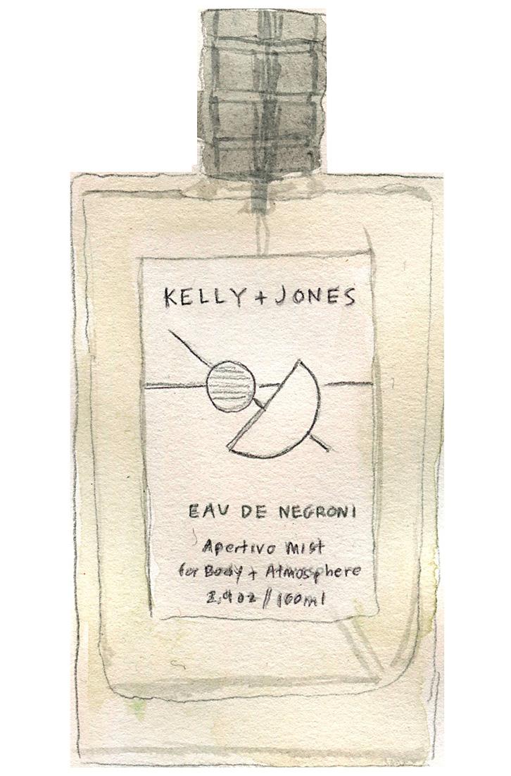 Kelly + Jones Eau de Negroni perfume illustration