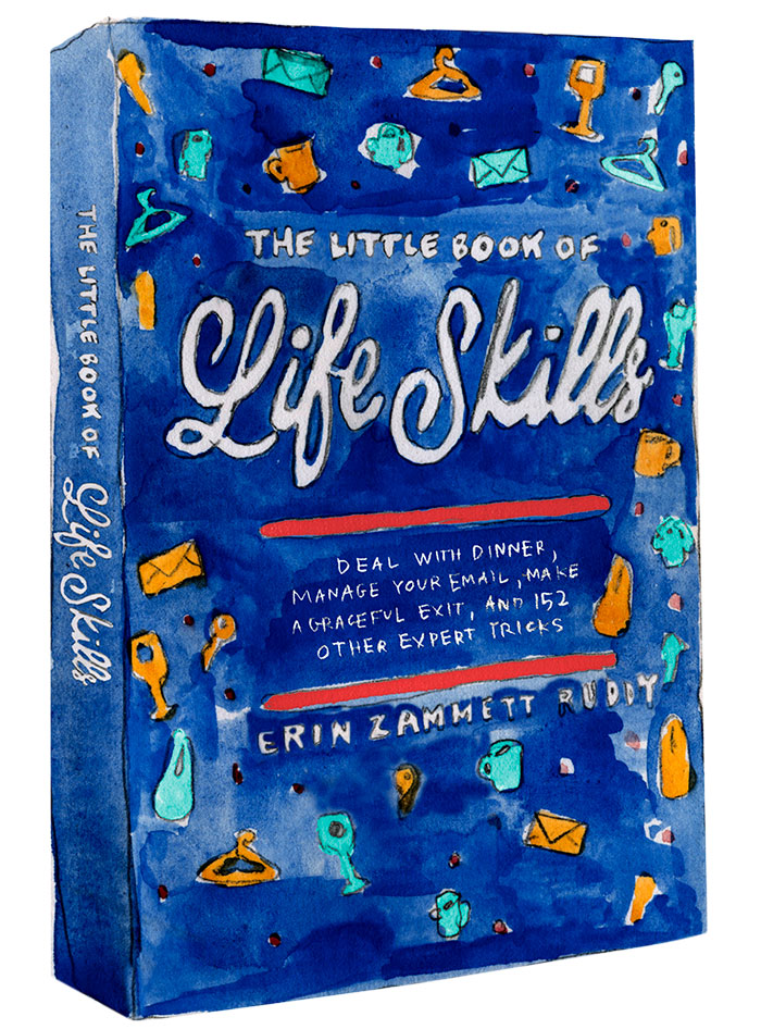 The Little Book of Life Skills cover and spine Illustration