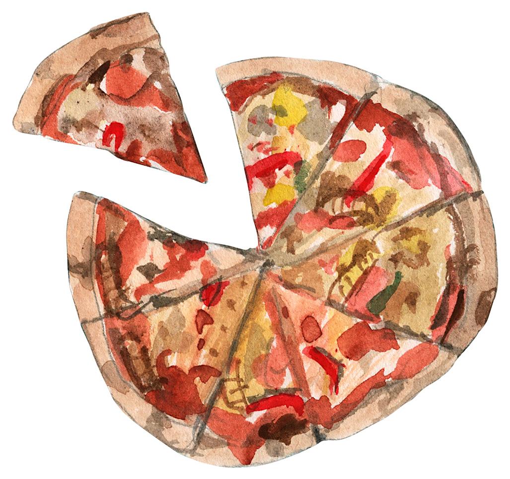 cooked Scraps pizza illustration