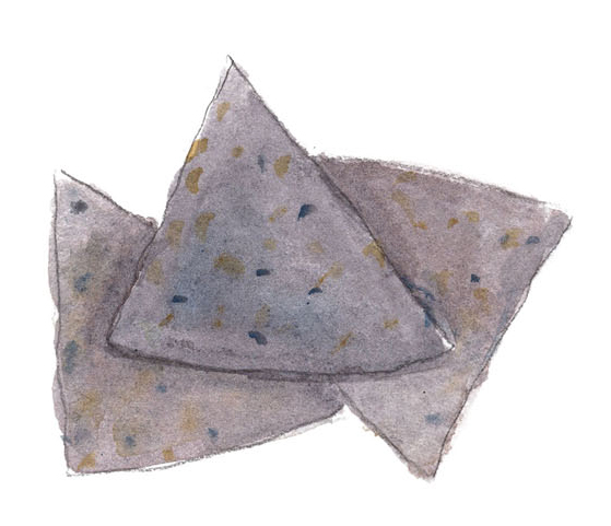 illustration of blue chips