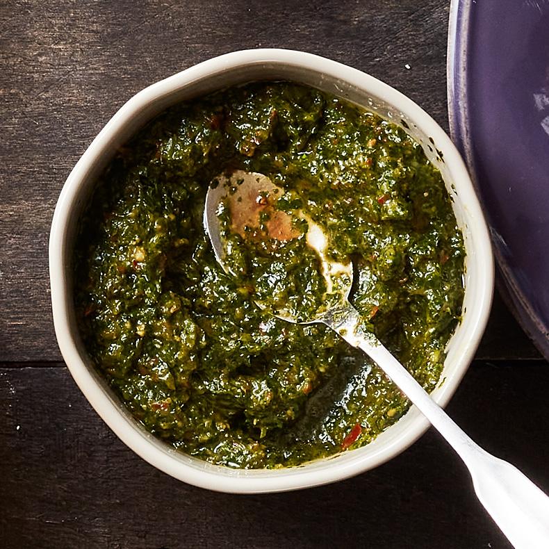 Schug or Zhug (Spicy Herb Sauce)
