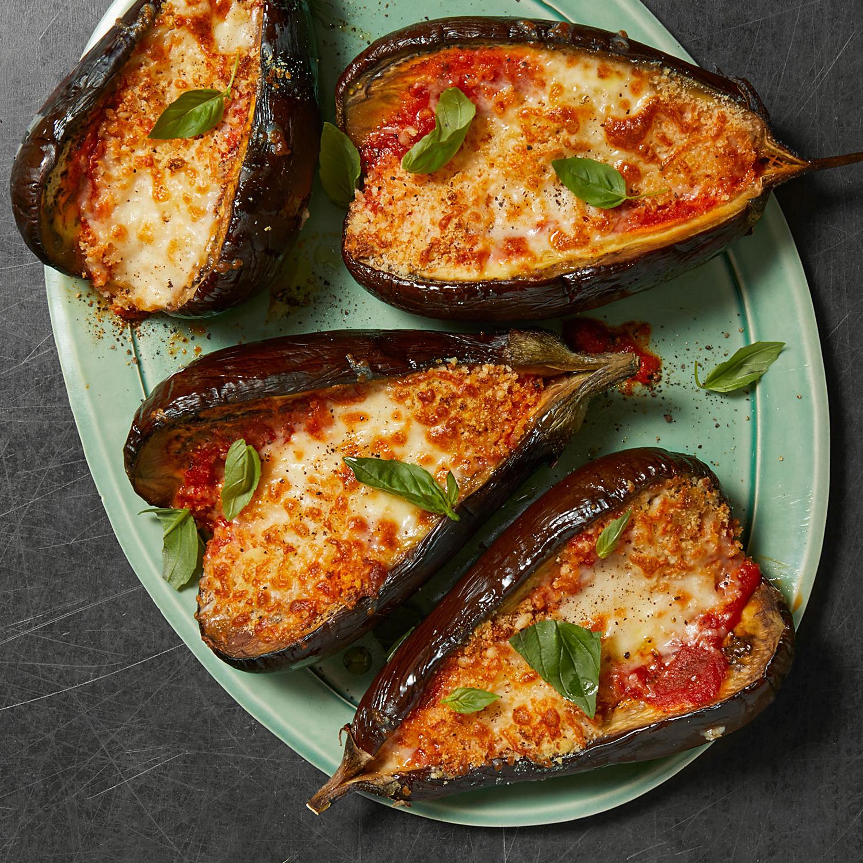 Eggplant Parm Boats