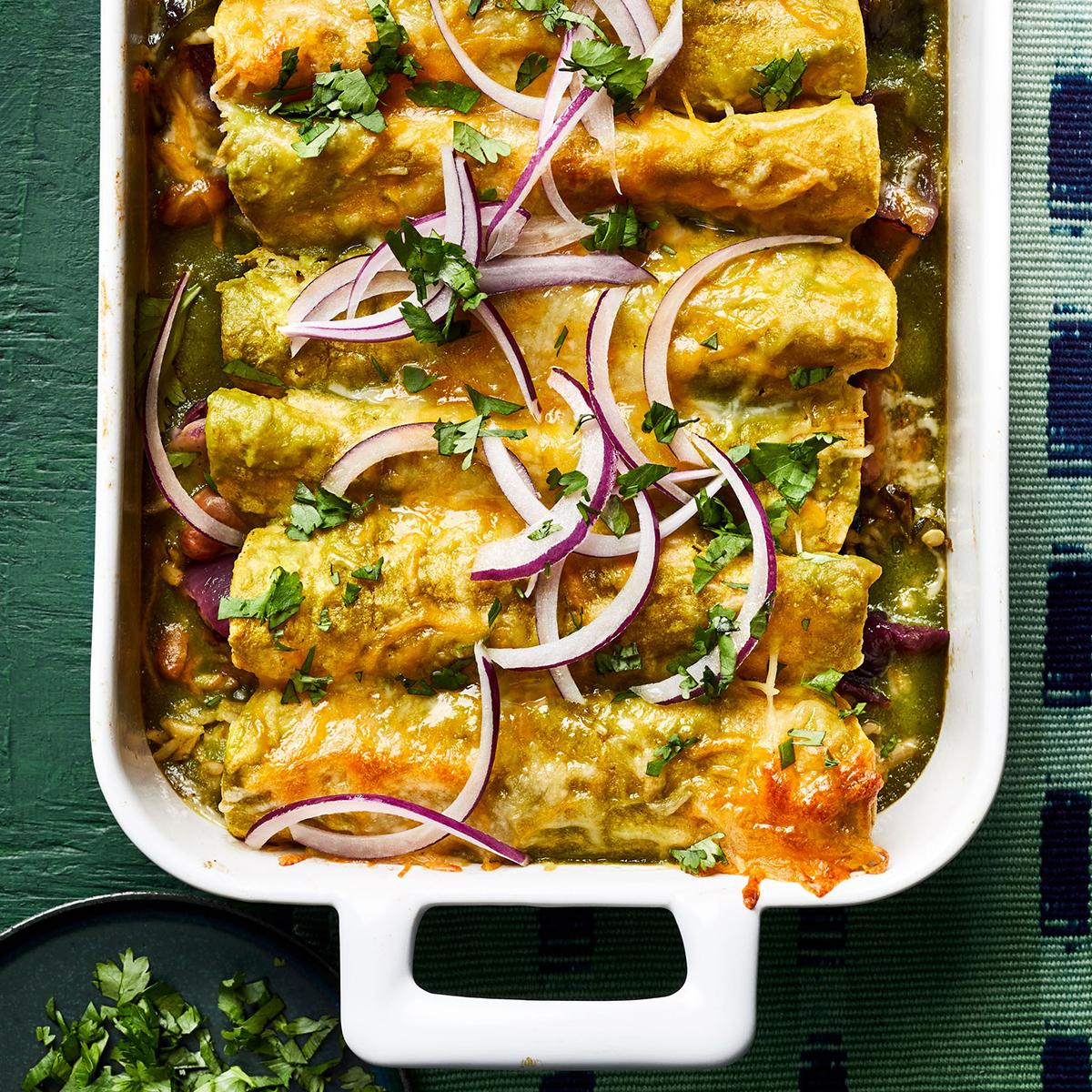 roasted poblano enchiladas