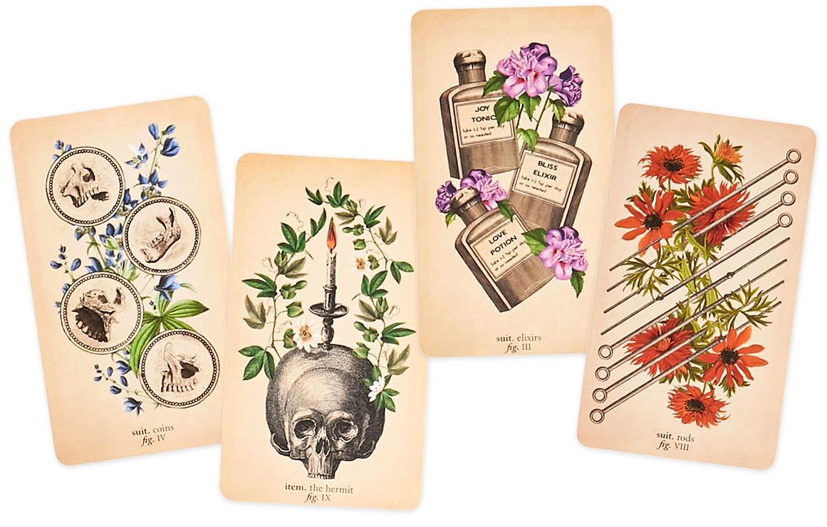 colorful antique anatomy tarot card kid