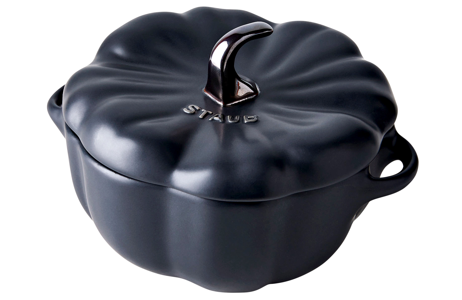 black Staub mini pumpkin cocotte