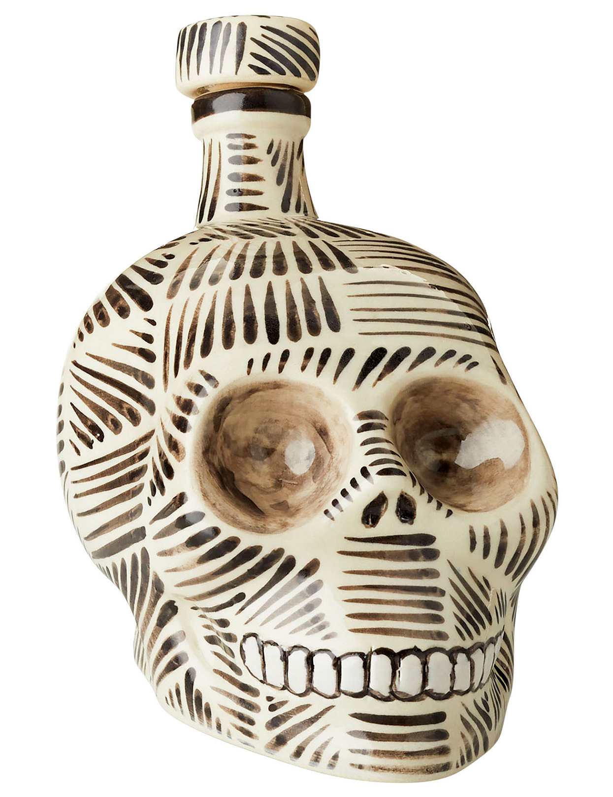 Henry hand-painted skull tequila decanter