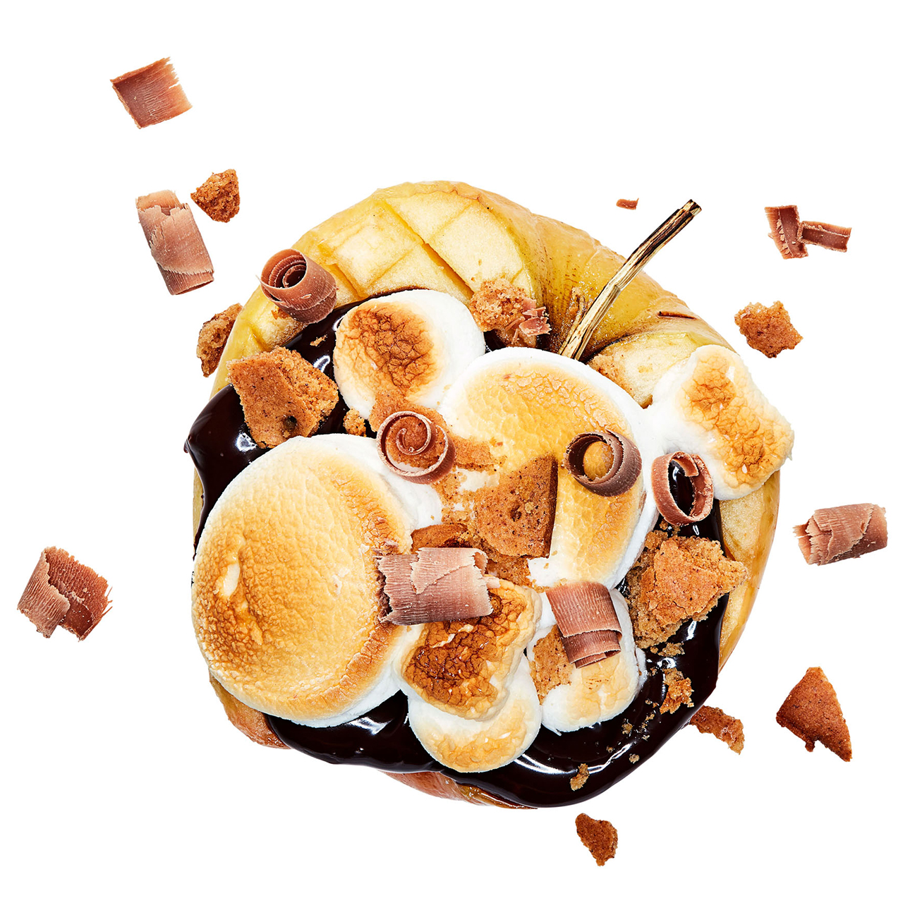 s'mores-style apple
