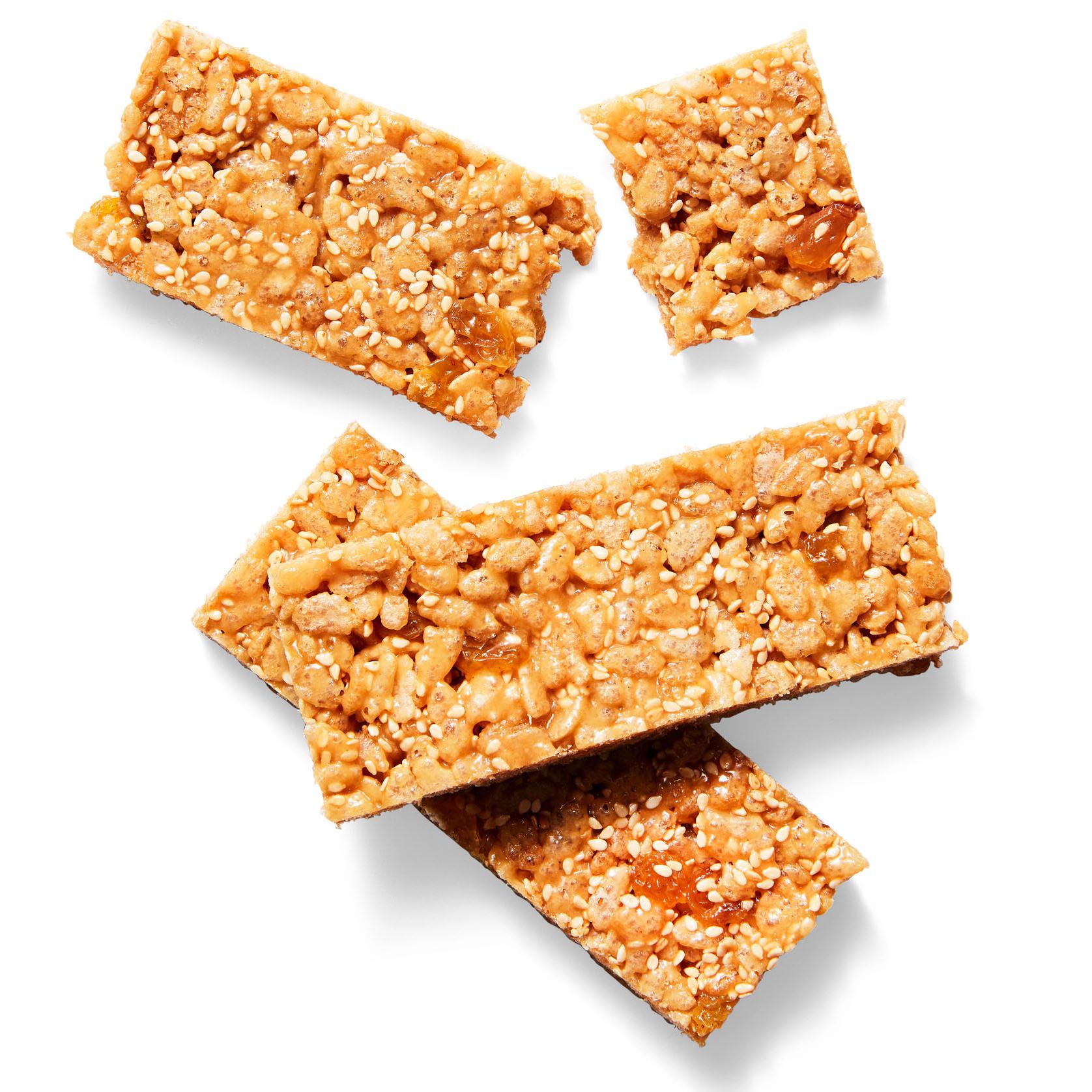 sesame-raisin cereal bars