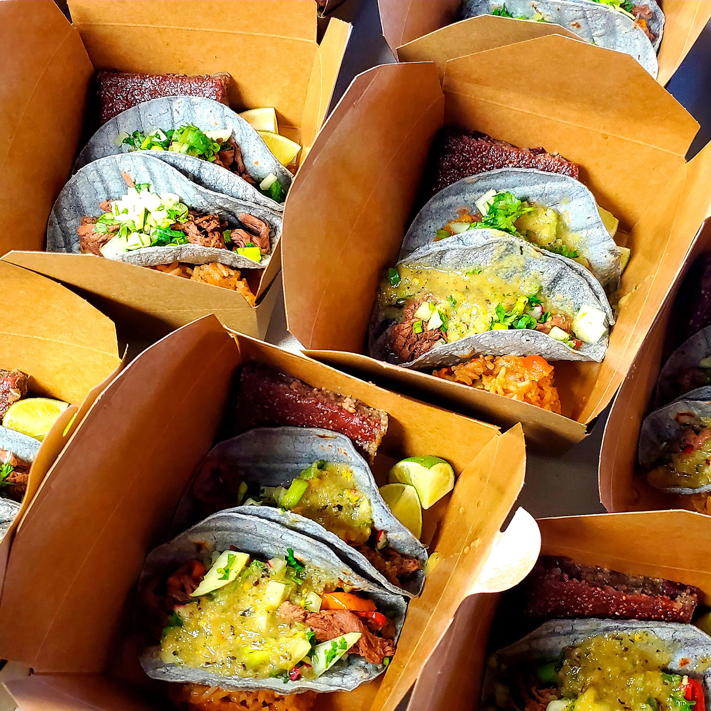 boxed tacos ready to be delivered