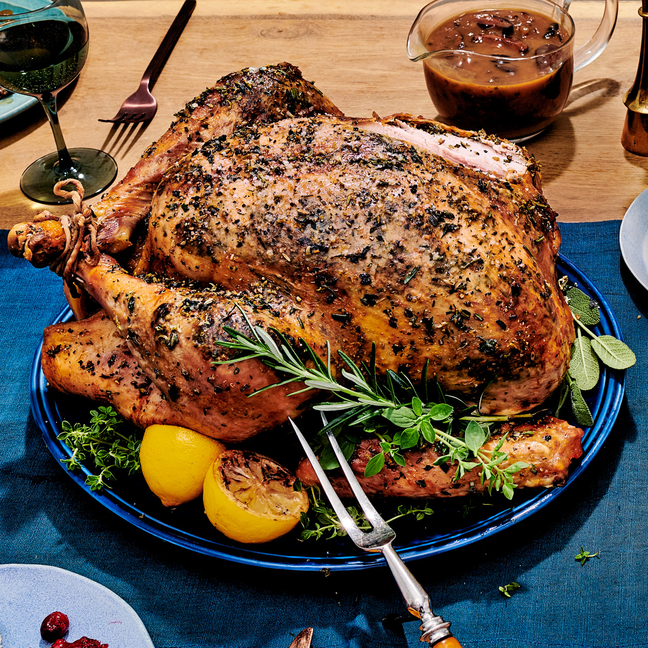 roast turkey porchetta with spiced butter