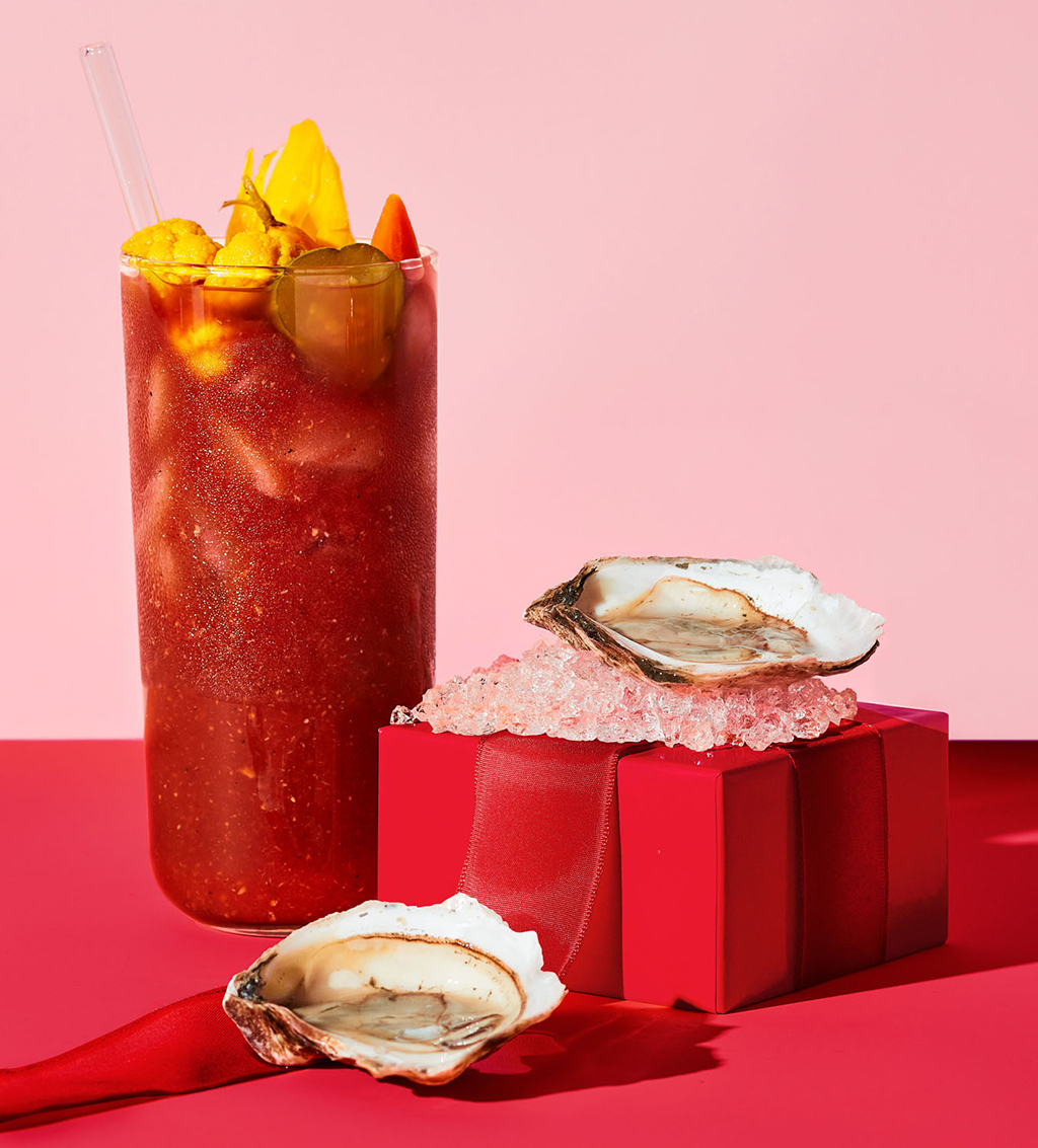 bloody mary mix and oysters
