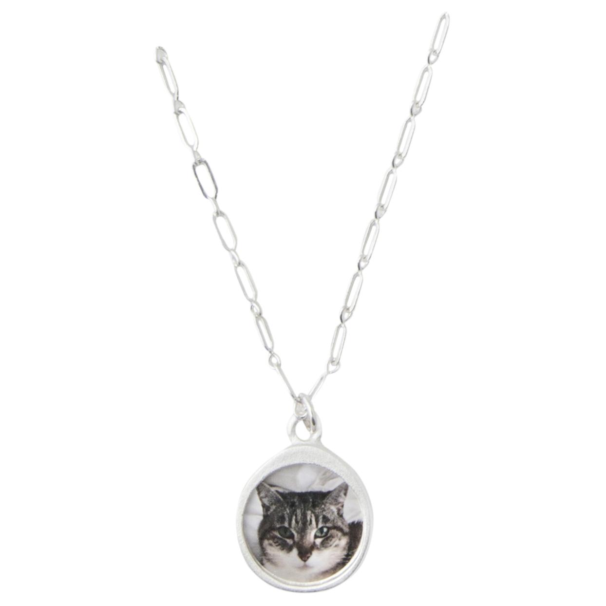 silver pet pendant necklace
