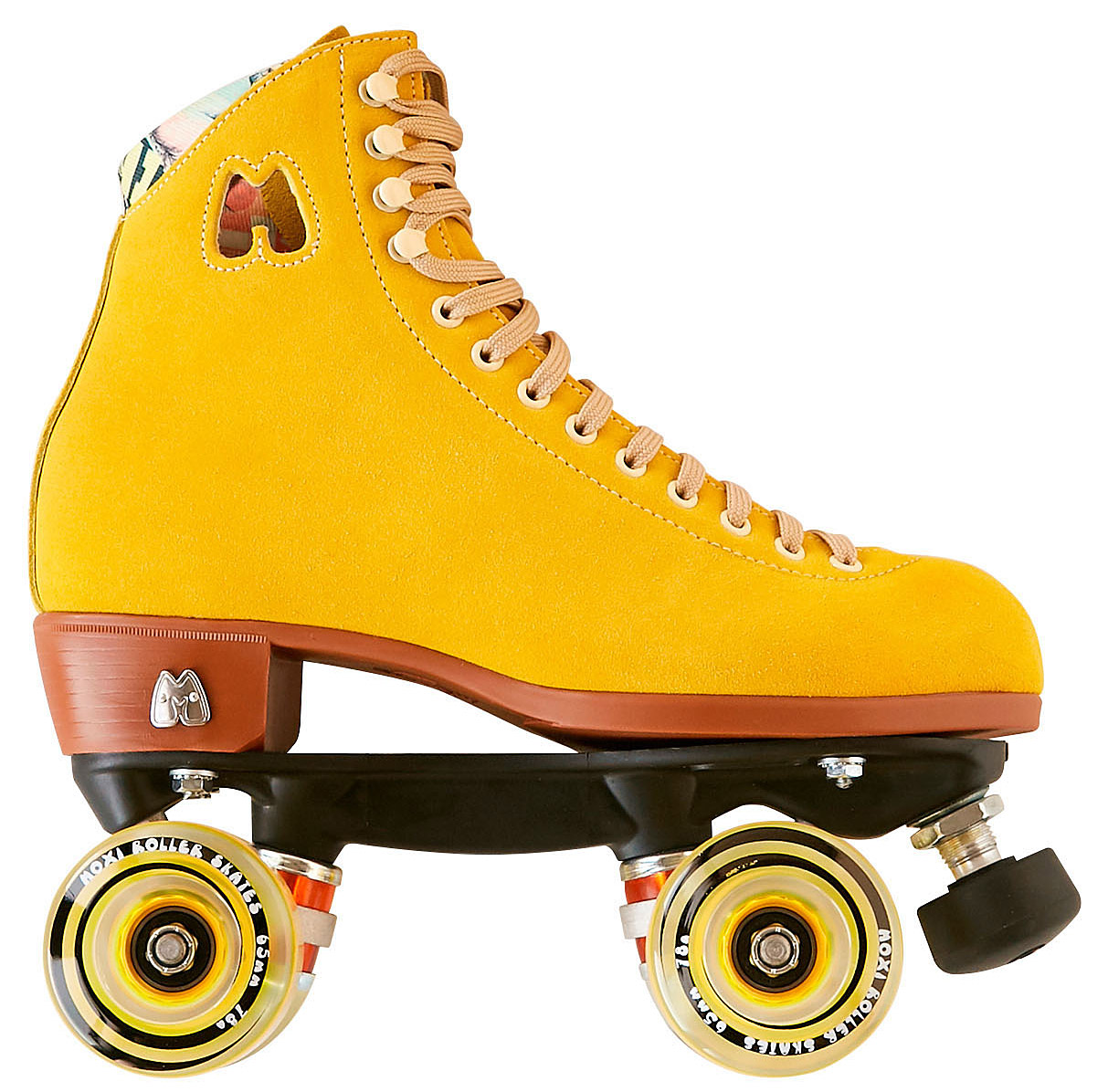 yellow suede roller skates