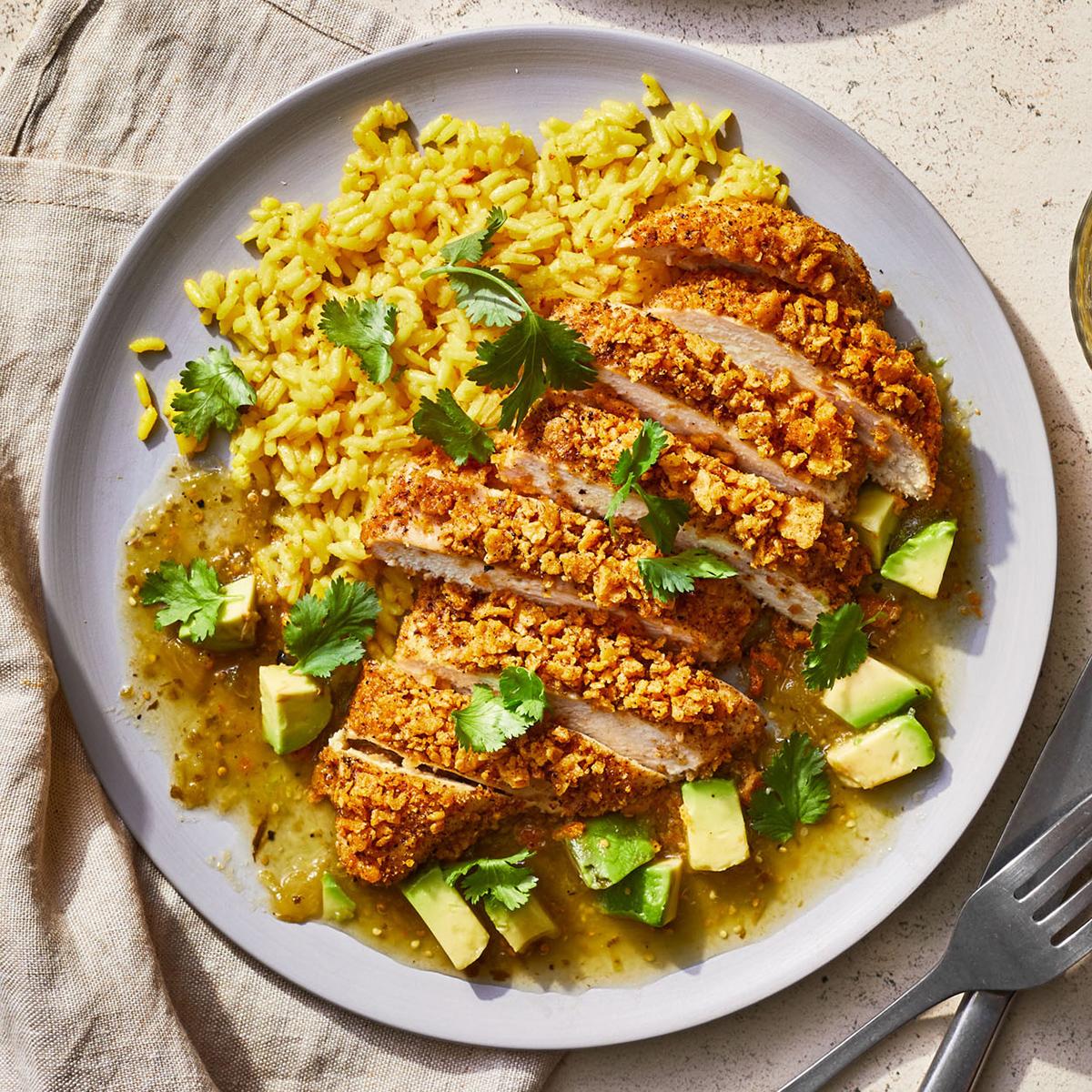 Crispy Corn Chip Chicken and Rice