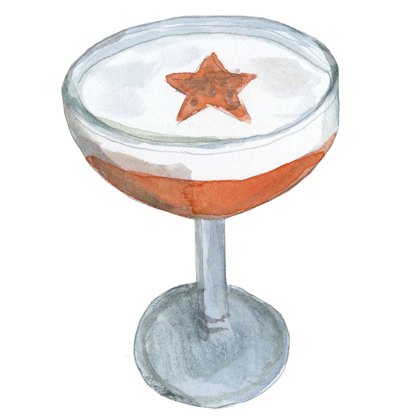 cocktail served in coupe illustration