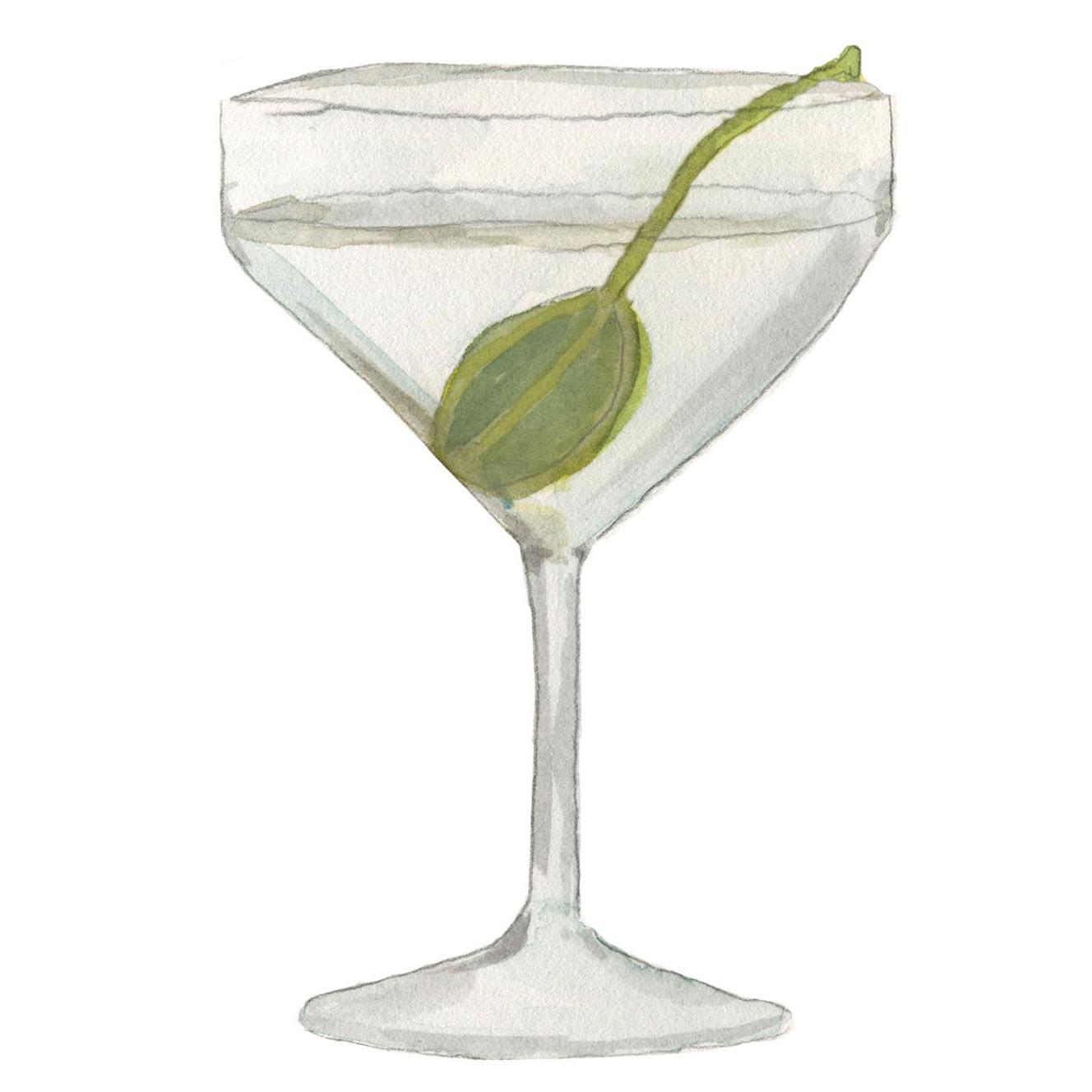 martini cocktail illustration