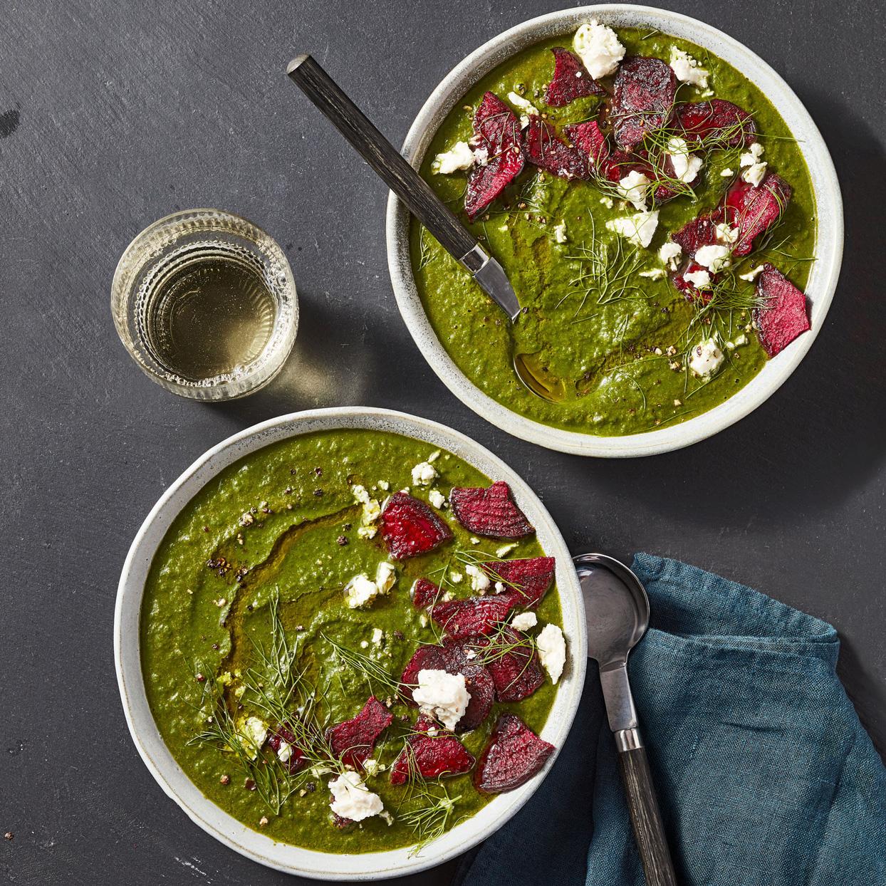 creamy swiss chard soup