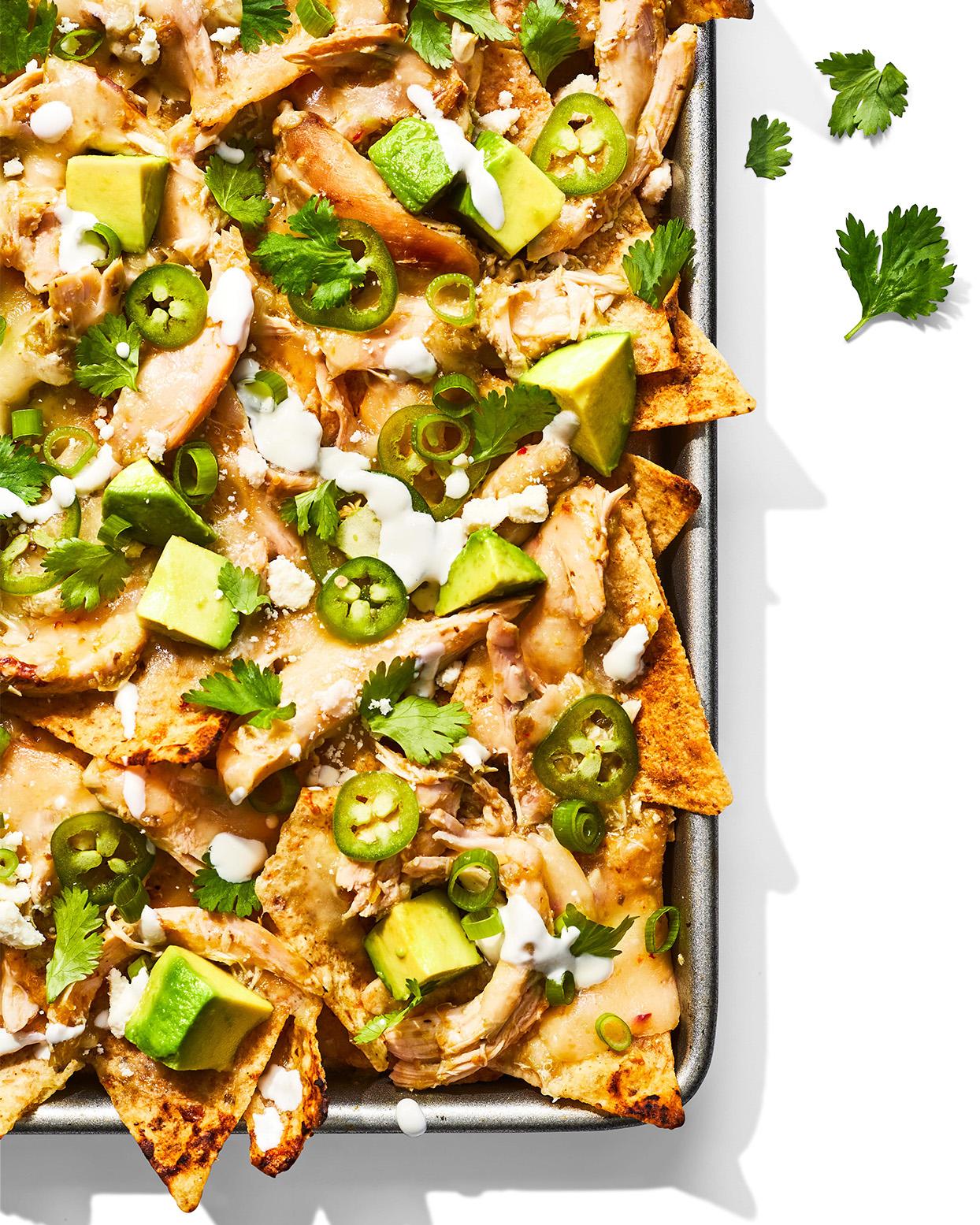 verde chicken nachos