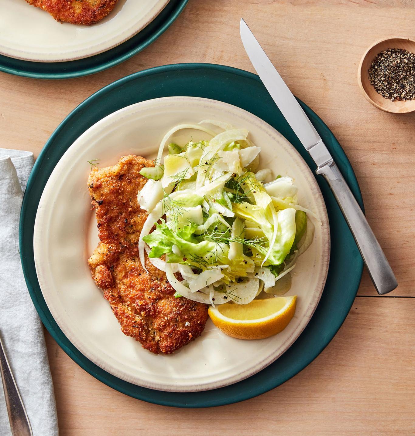 chicken milanese salad