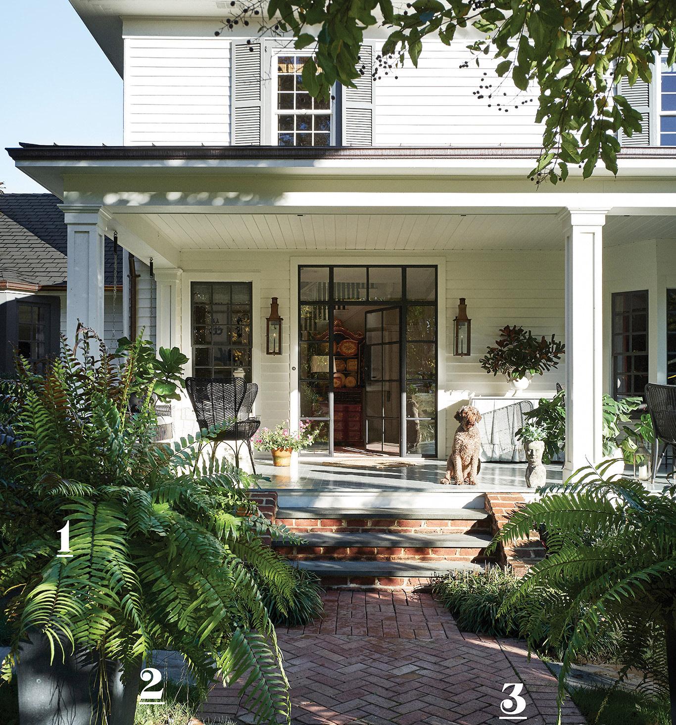 home landscape dog porch