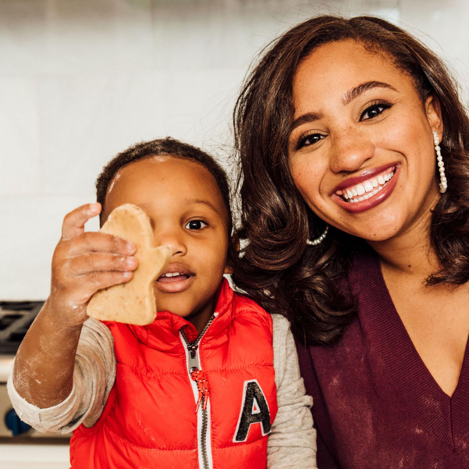 Marissa Allen with son