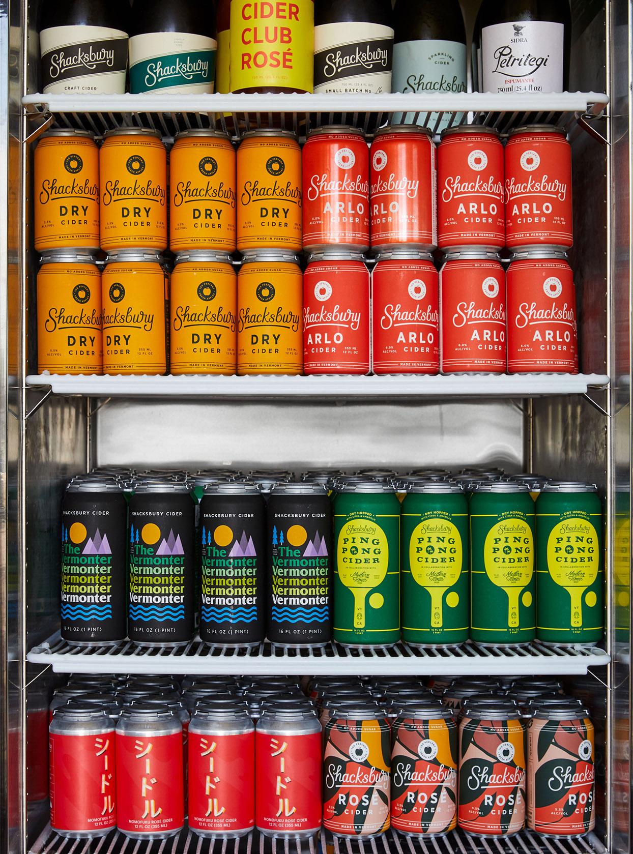 tasting room cider cans