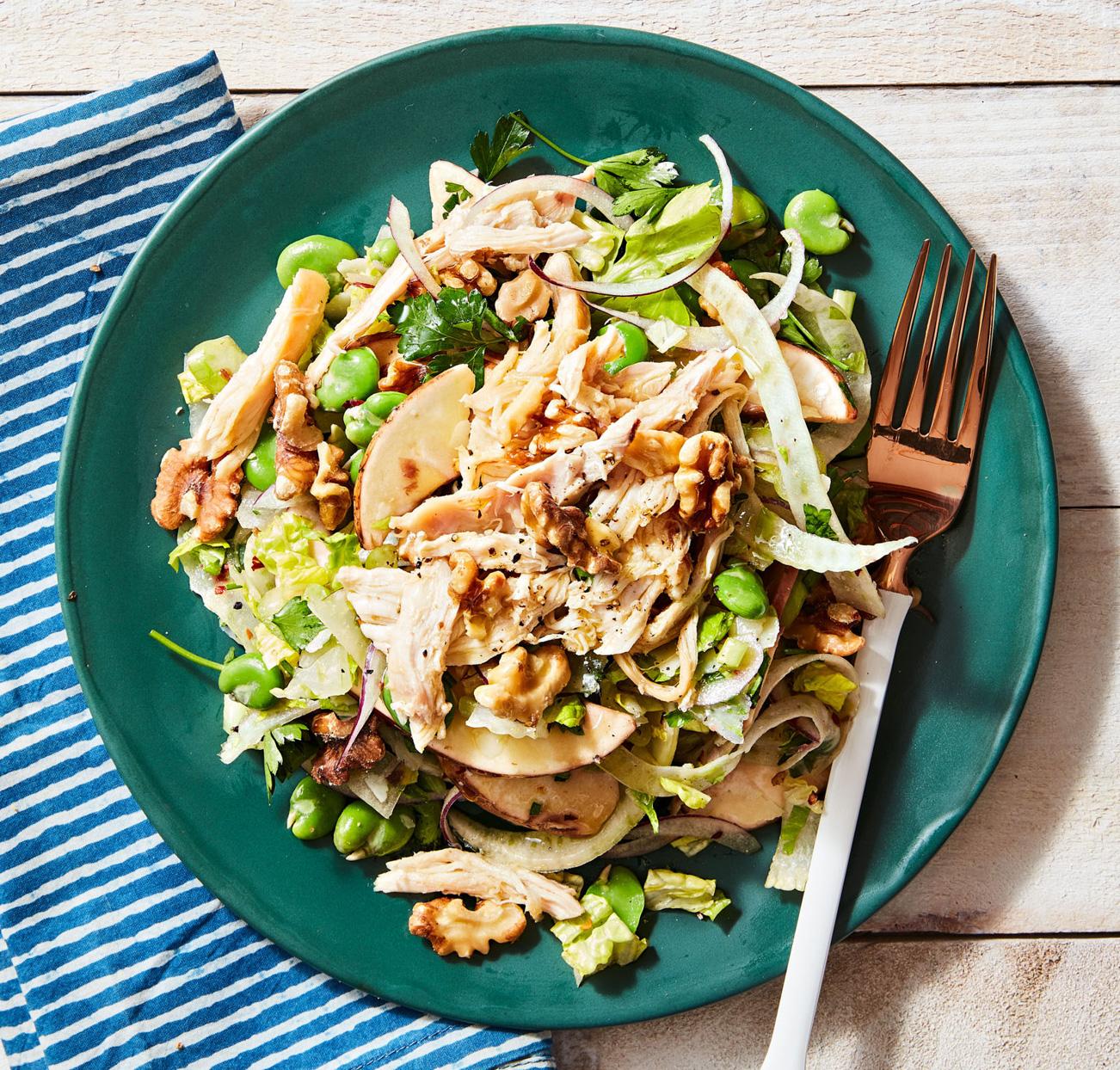 Chicken Salad Fennel Favas