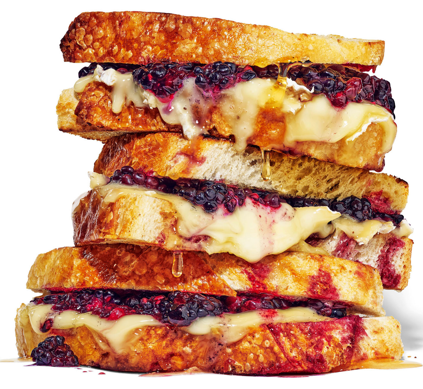 blackberry toasted cheese sandwiches