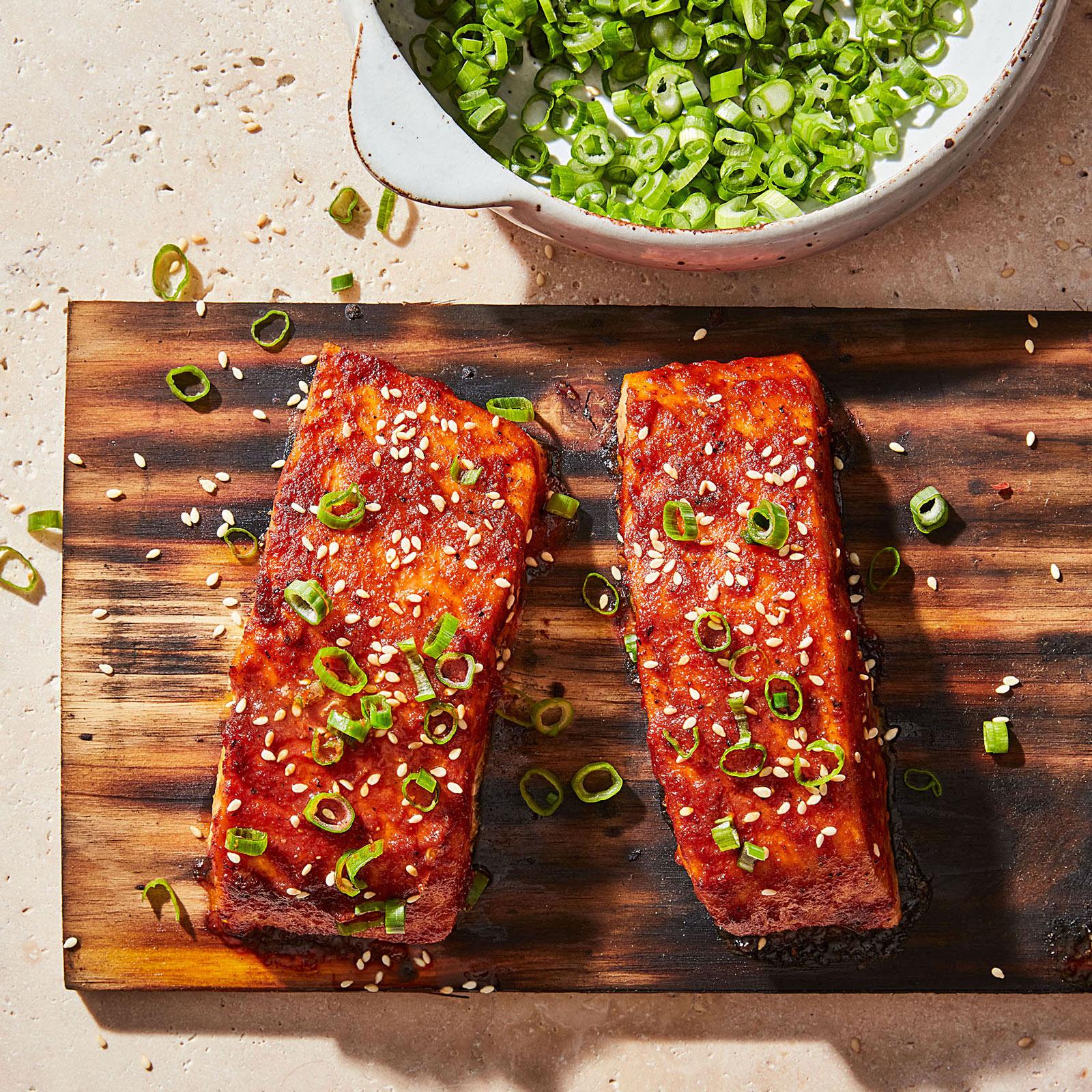 Thai Chili–Glazed Cedar-Plank Salmon