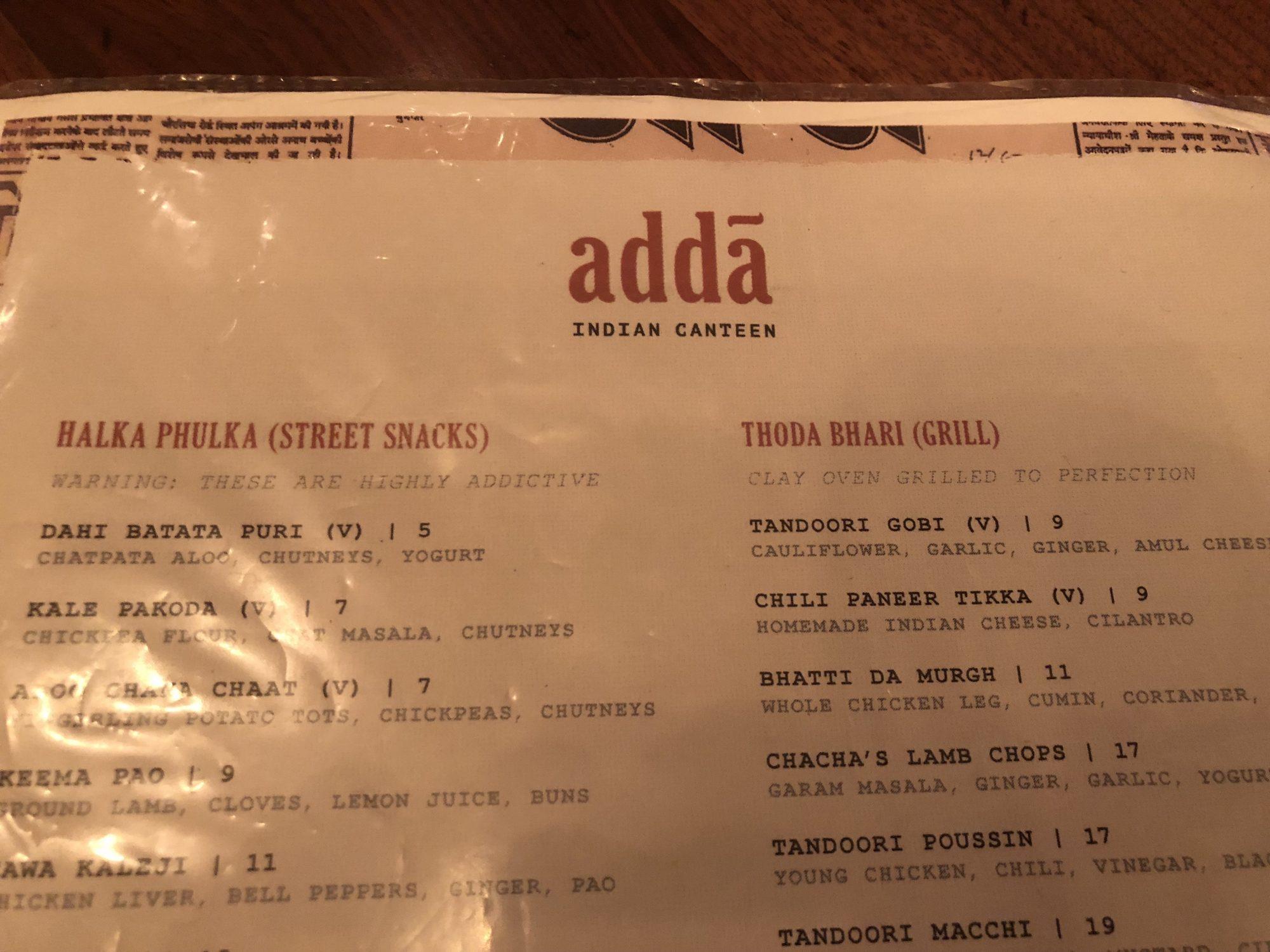 Adda Indian Canteen