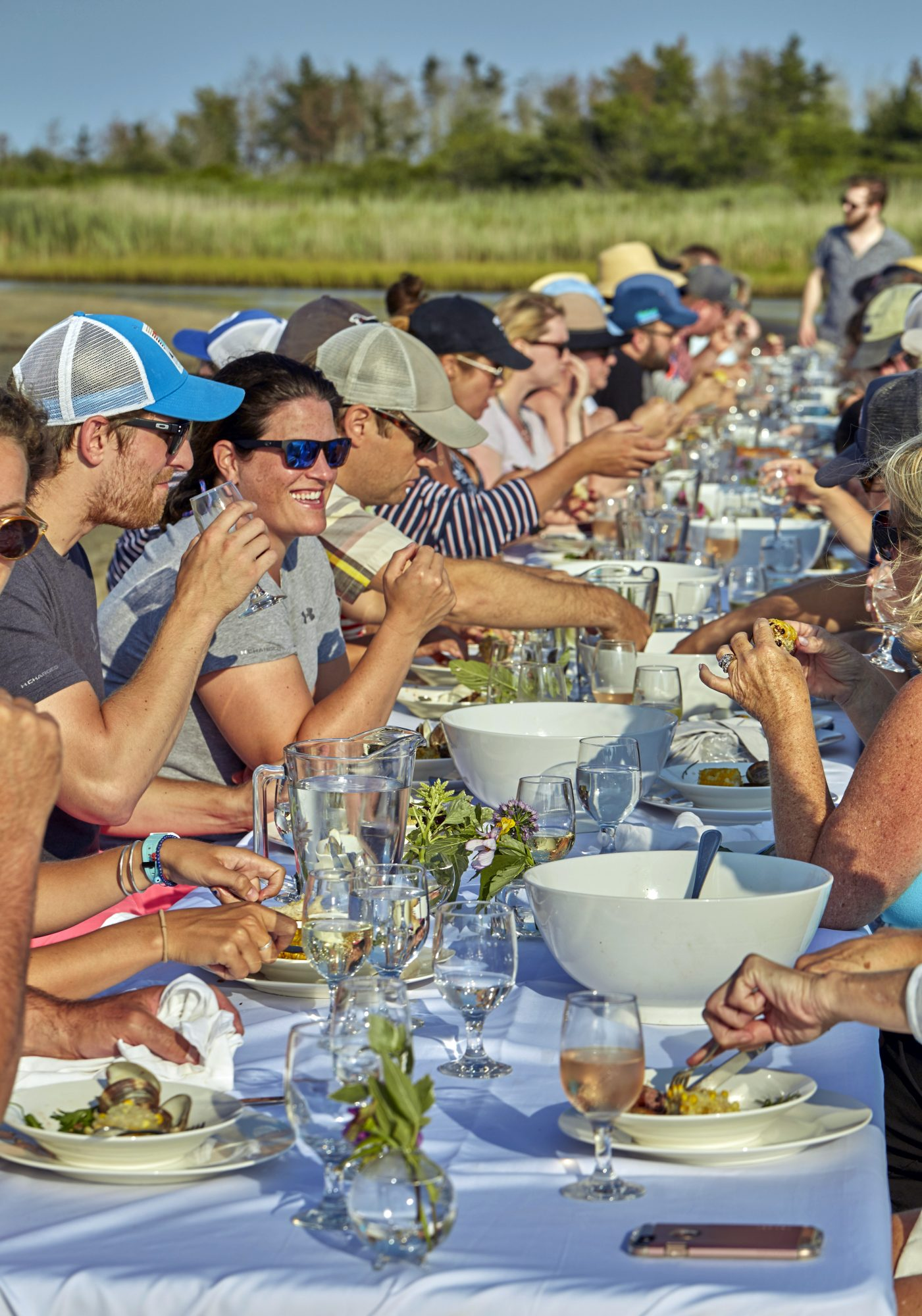 dinner party crowd outdoors