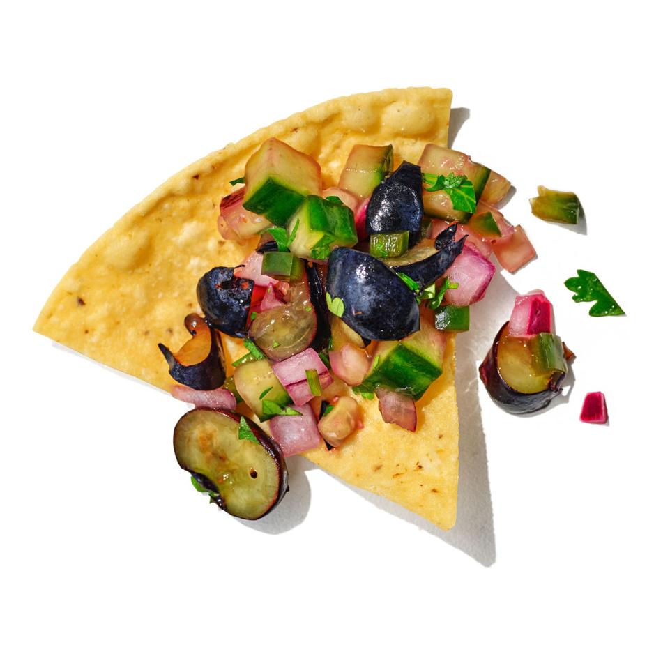 blueberry-cucumber salsa