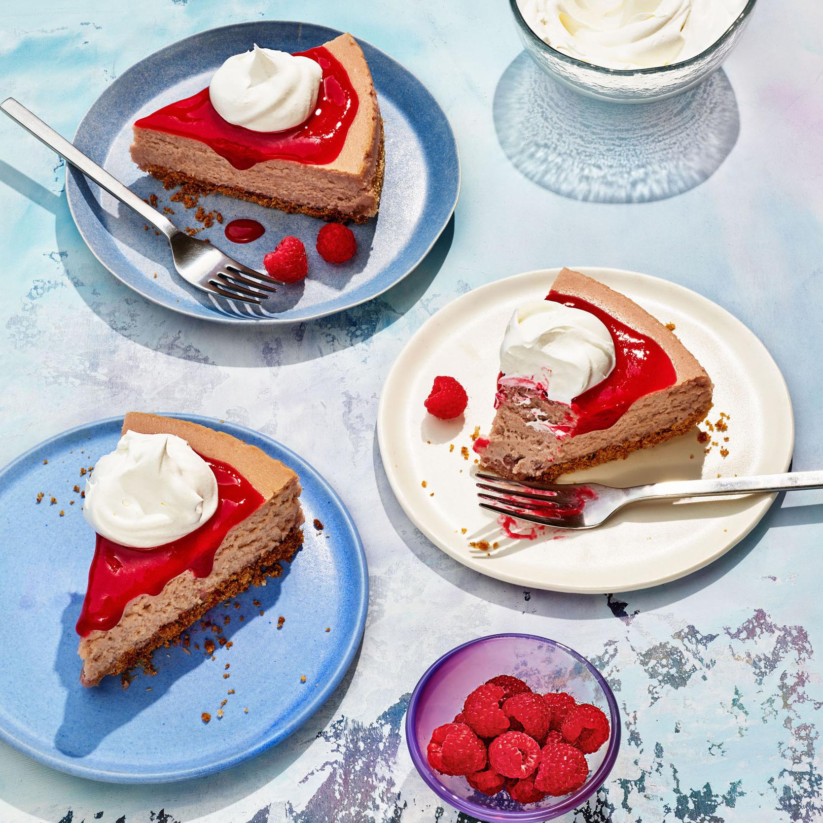 triple raspberry cheesecake