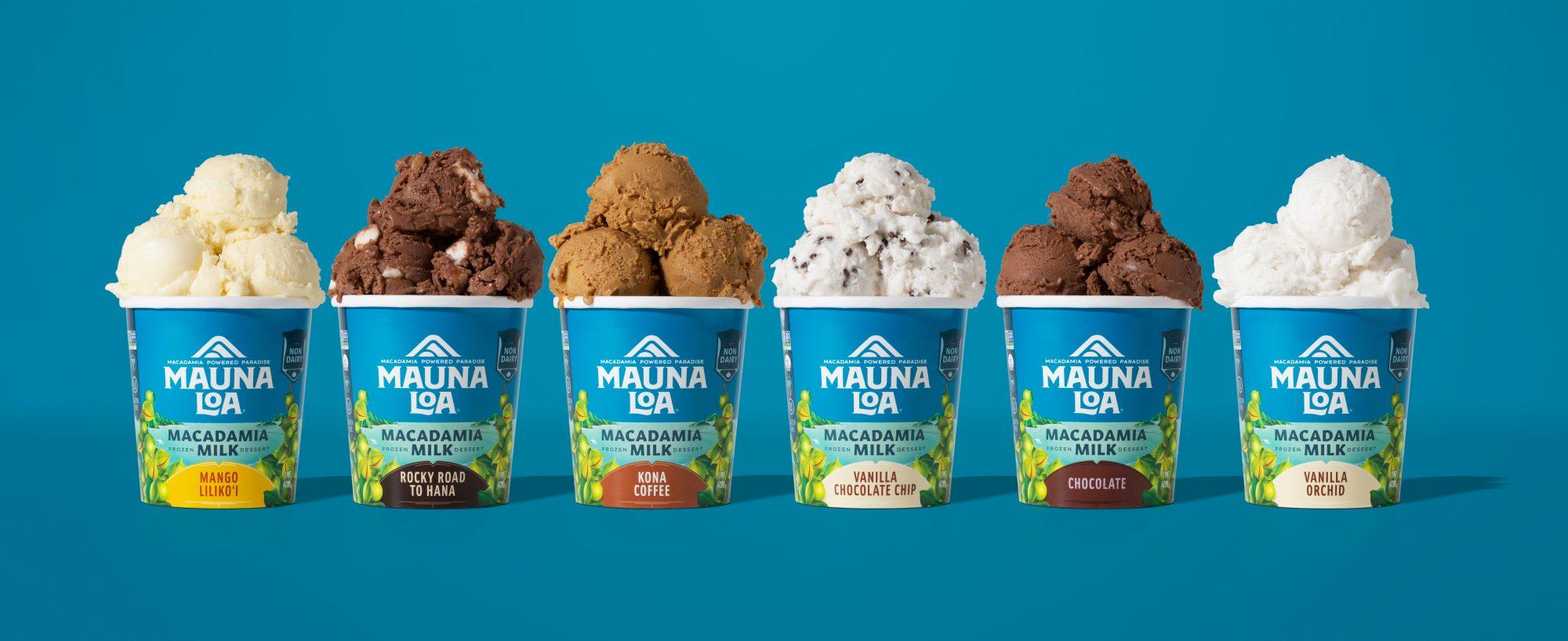 Mauna Loa Macadamia Nut Milk Ice Cream Lineup