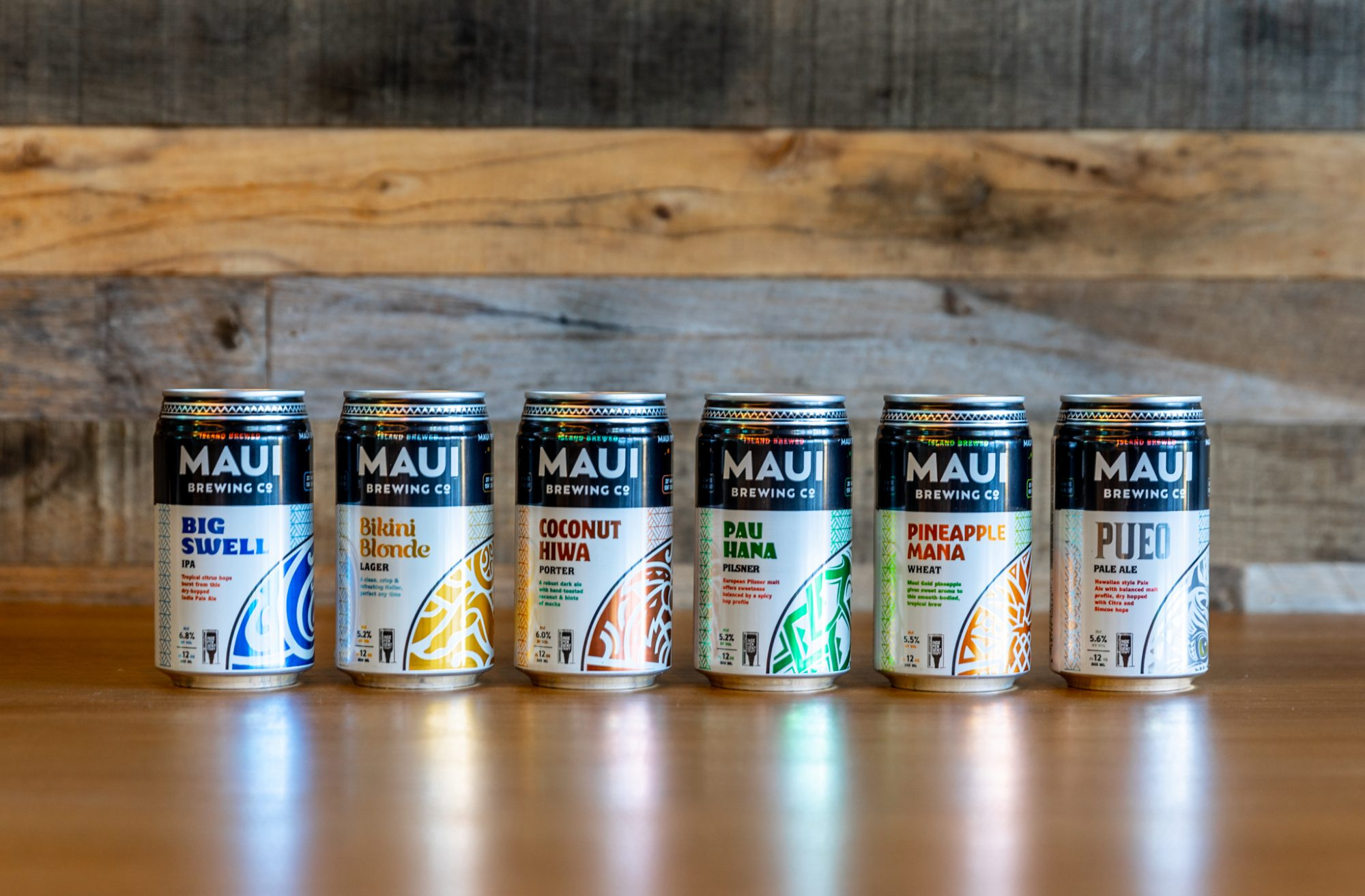 Maui Brewing Company beer lineup